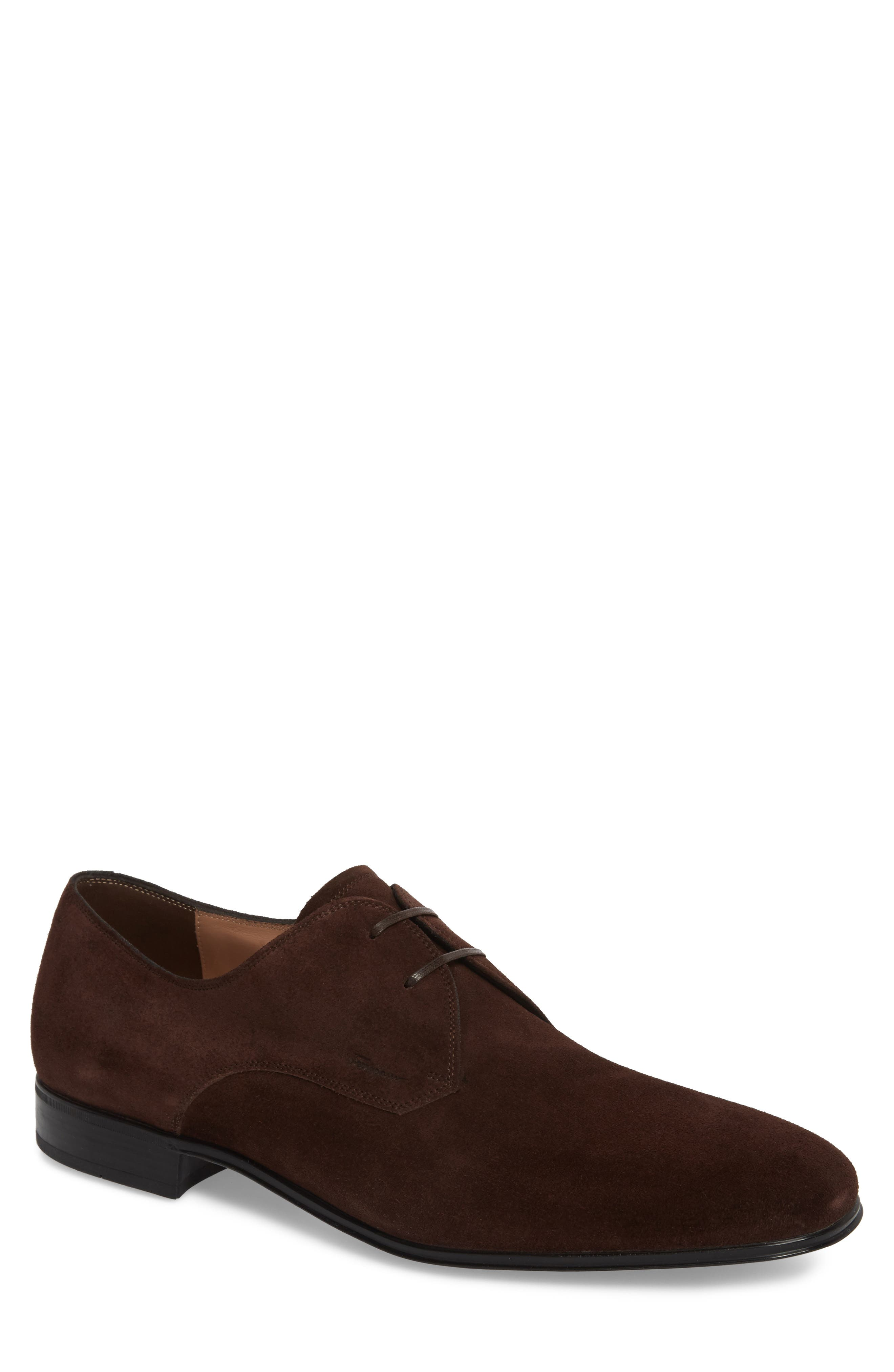 Fortunato 2 Plain Toe Derby,                         Main,                         color, Brown Suede