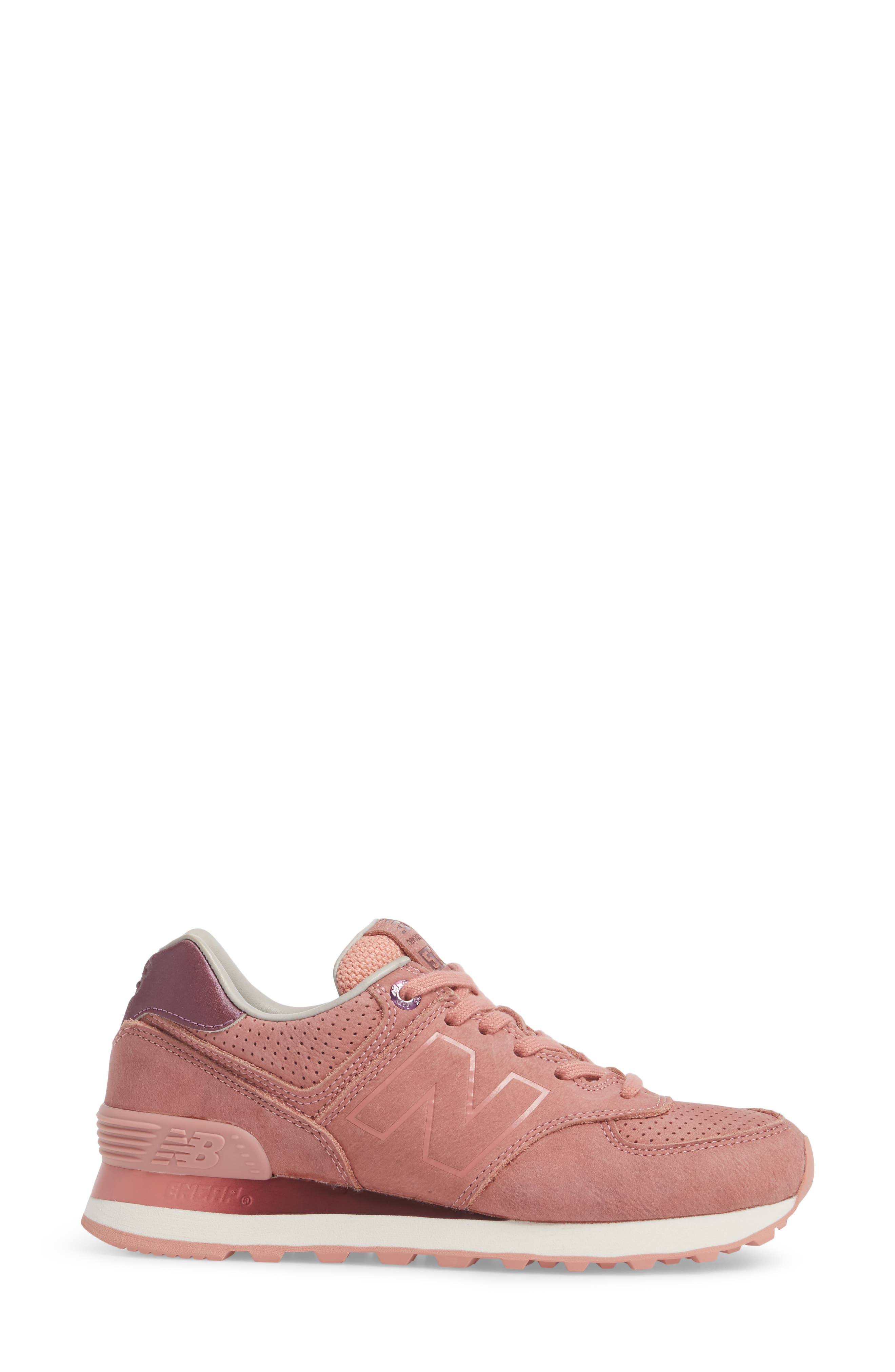 574 Sneaker,                             Alternate thumbnail 3, color,                             Dusted Peach