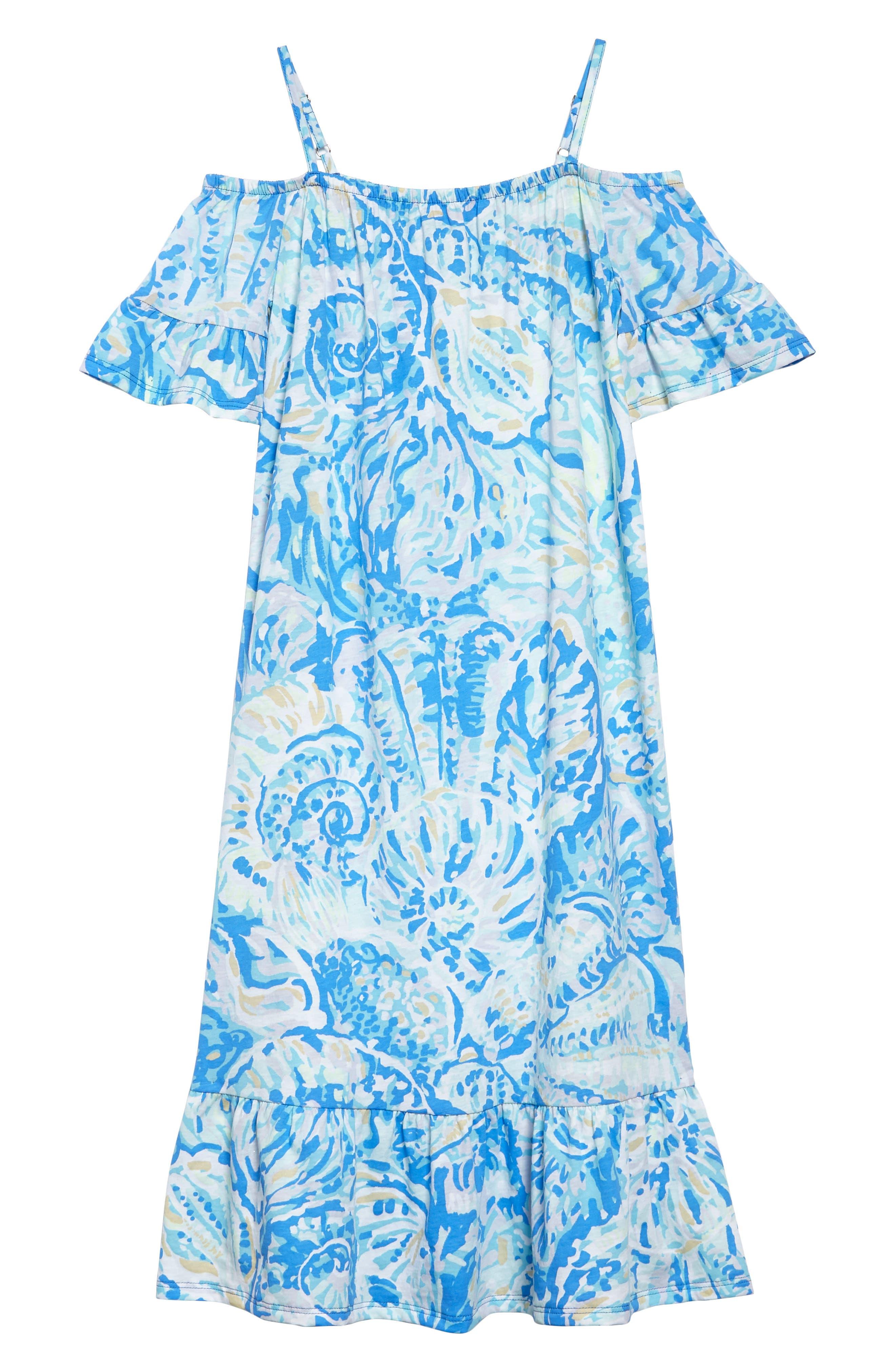 Clary Cold Shoulder Maxi Dress,                             Alternate thumbnail 2, color,                             Bennet Blue Salty Seas