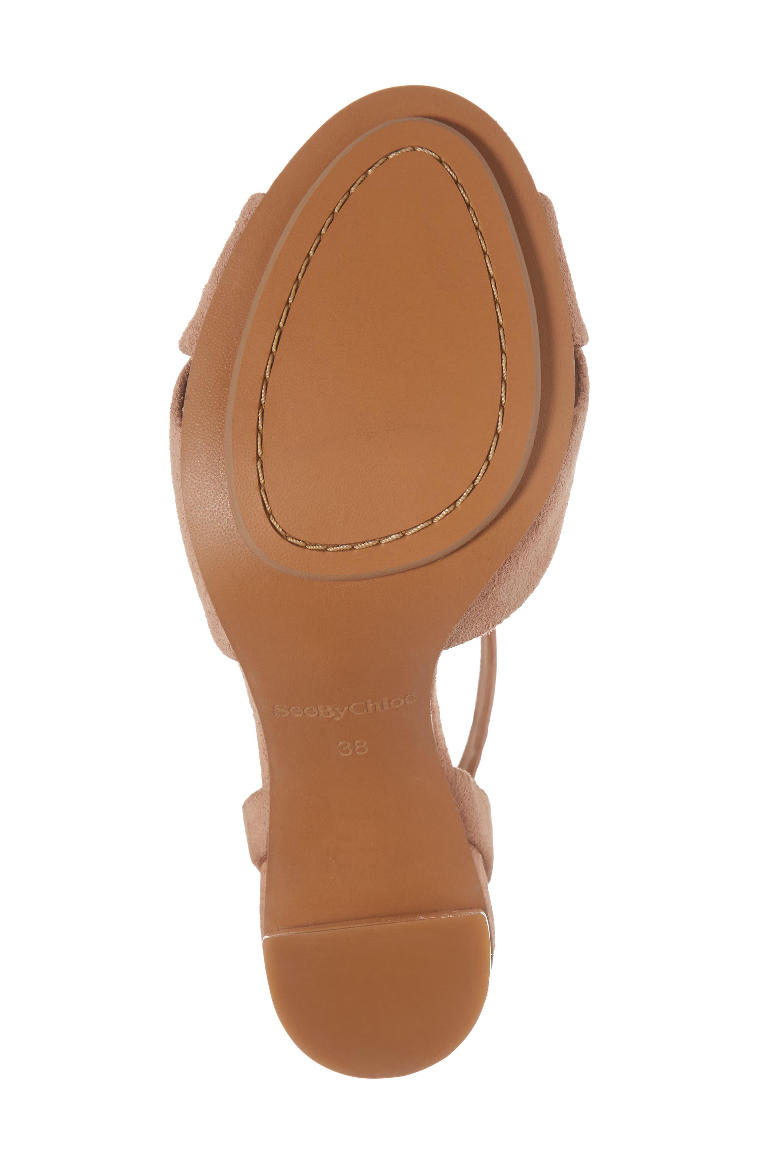 Isida Block Heel Sandal,                             Alternate thumbnail 6, color,                             Cipria