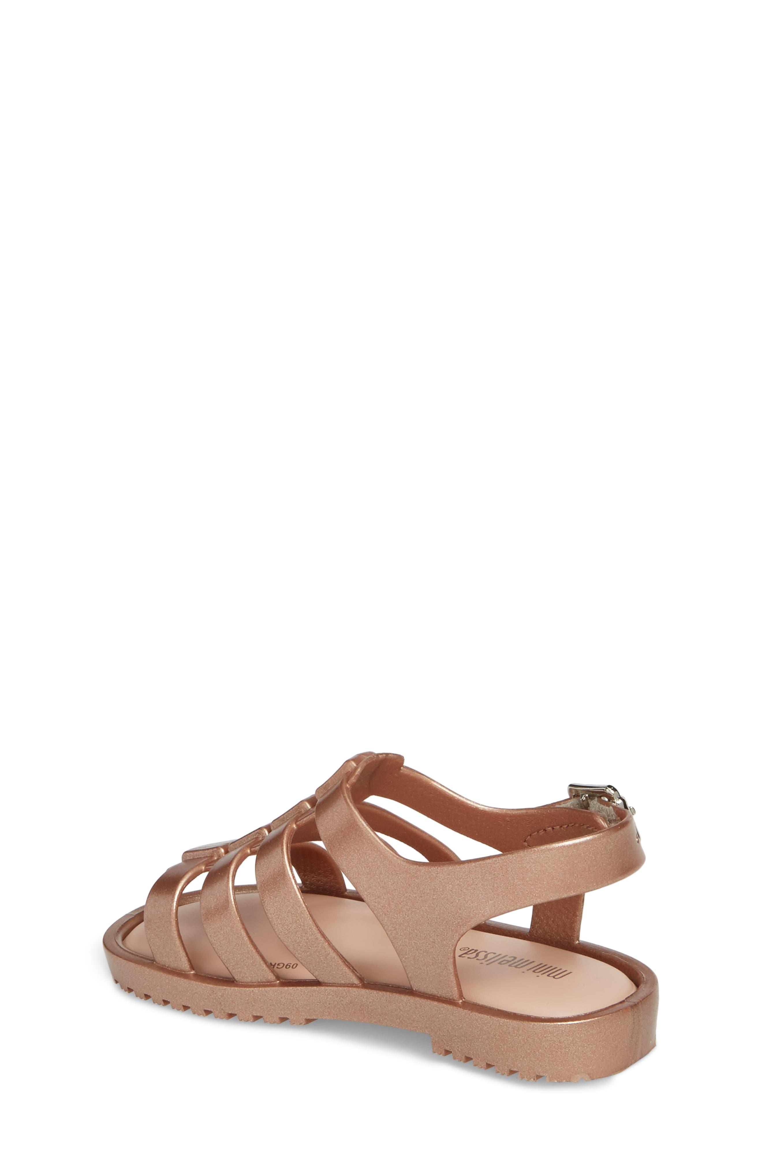 Mini Flox Shine Sandal,                             Alternate thumbnail 2, color,                             Rose Gold