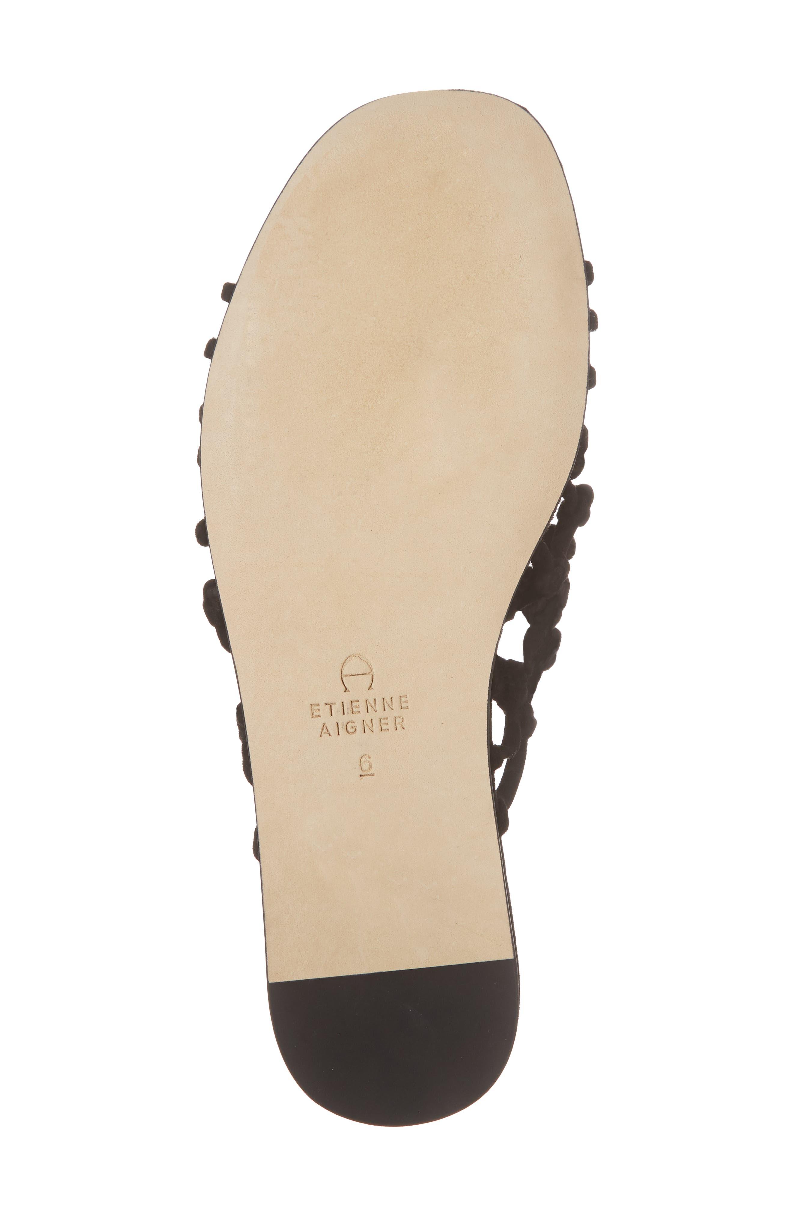 Aruba Slide Sandal,                             Alternate thumbnail 6, color,                             Black Suede