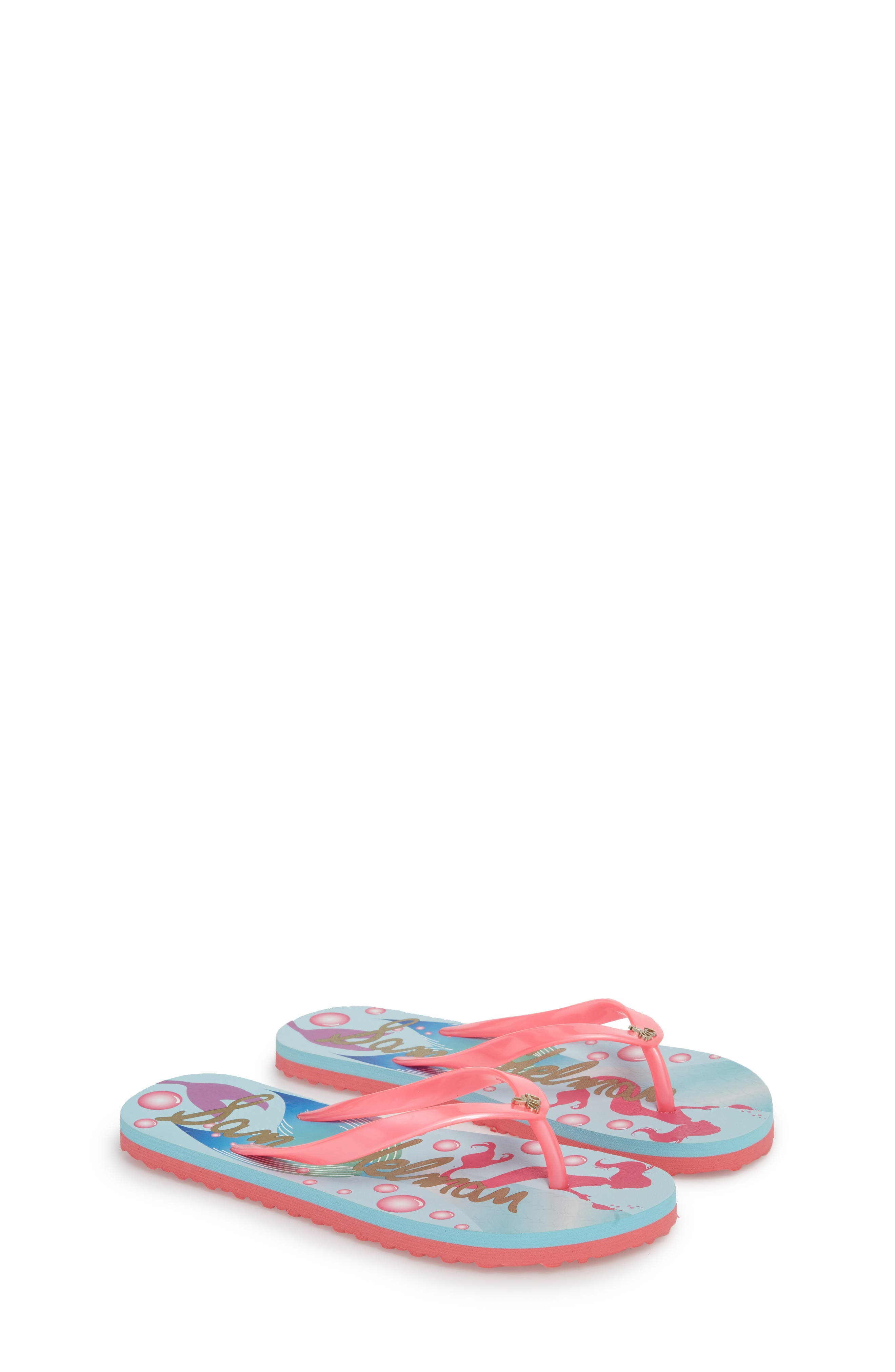 Mandy Flip Flop,                             Alternate thumbnail 3, color,                             Mermaid Turquoise/ Pink