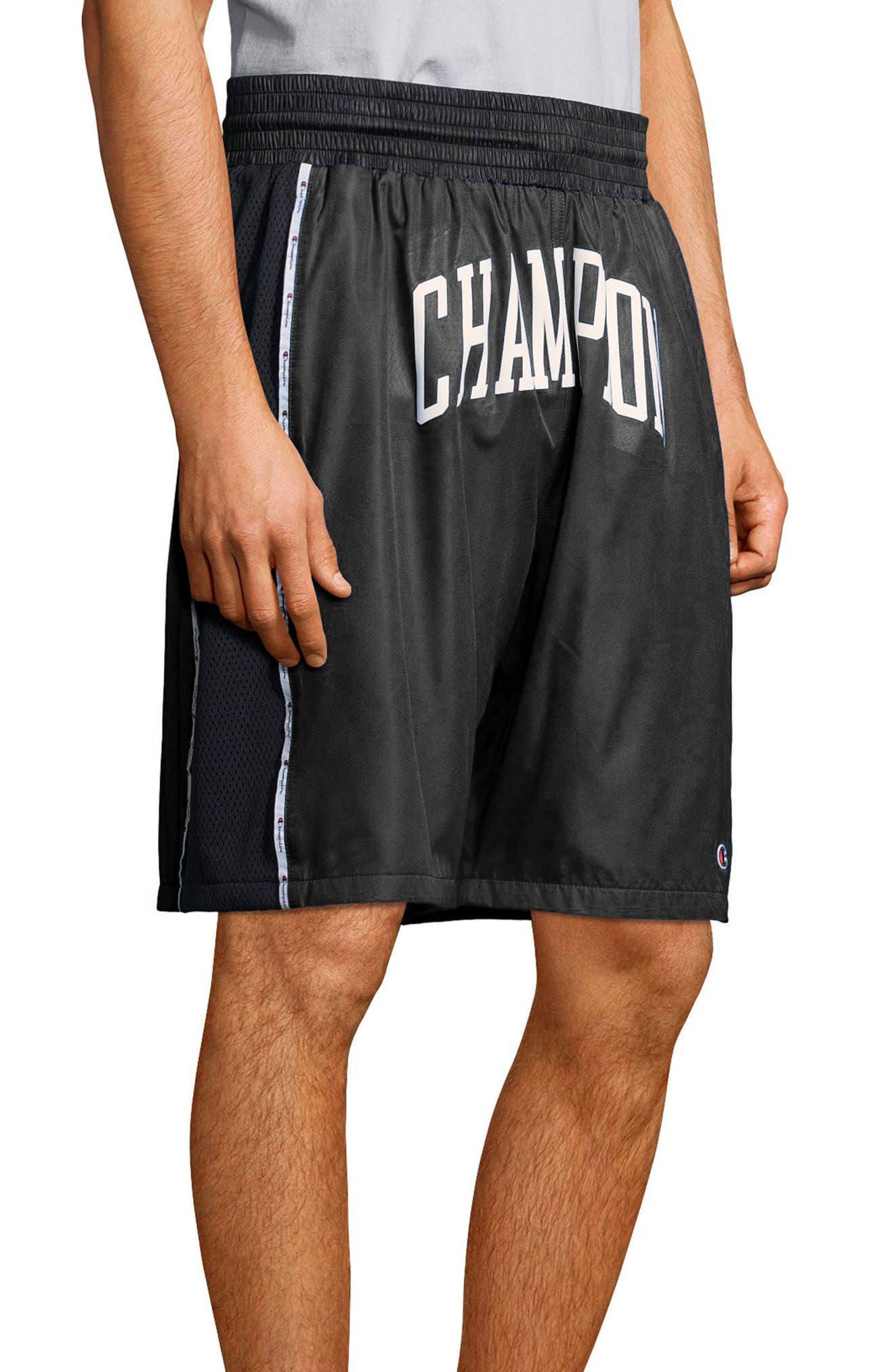 Satin Shorts,                             Alternate thumbnail 3, color,                             Black