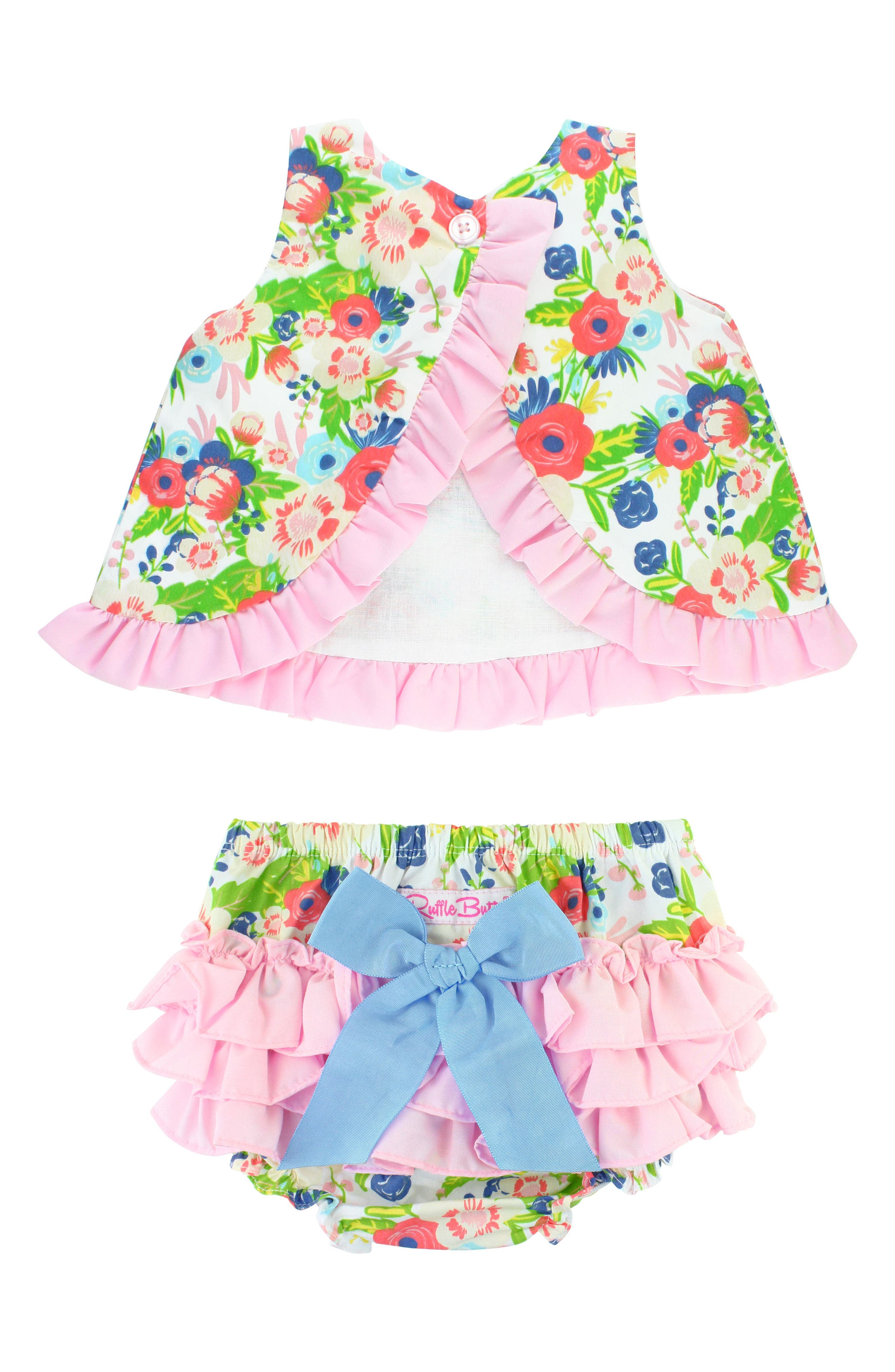 English Garden Swing Top & Ruffle Bloomers Set,                             Alternate thumbnail 2, color,                             White