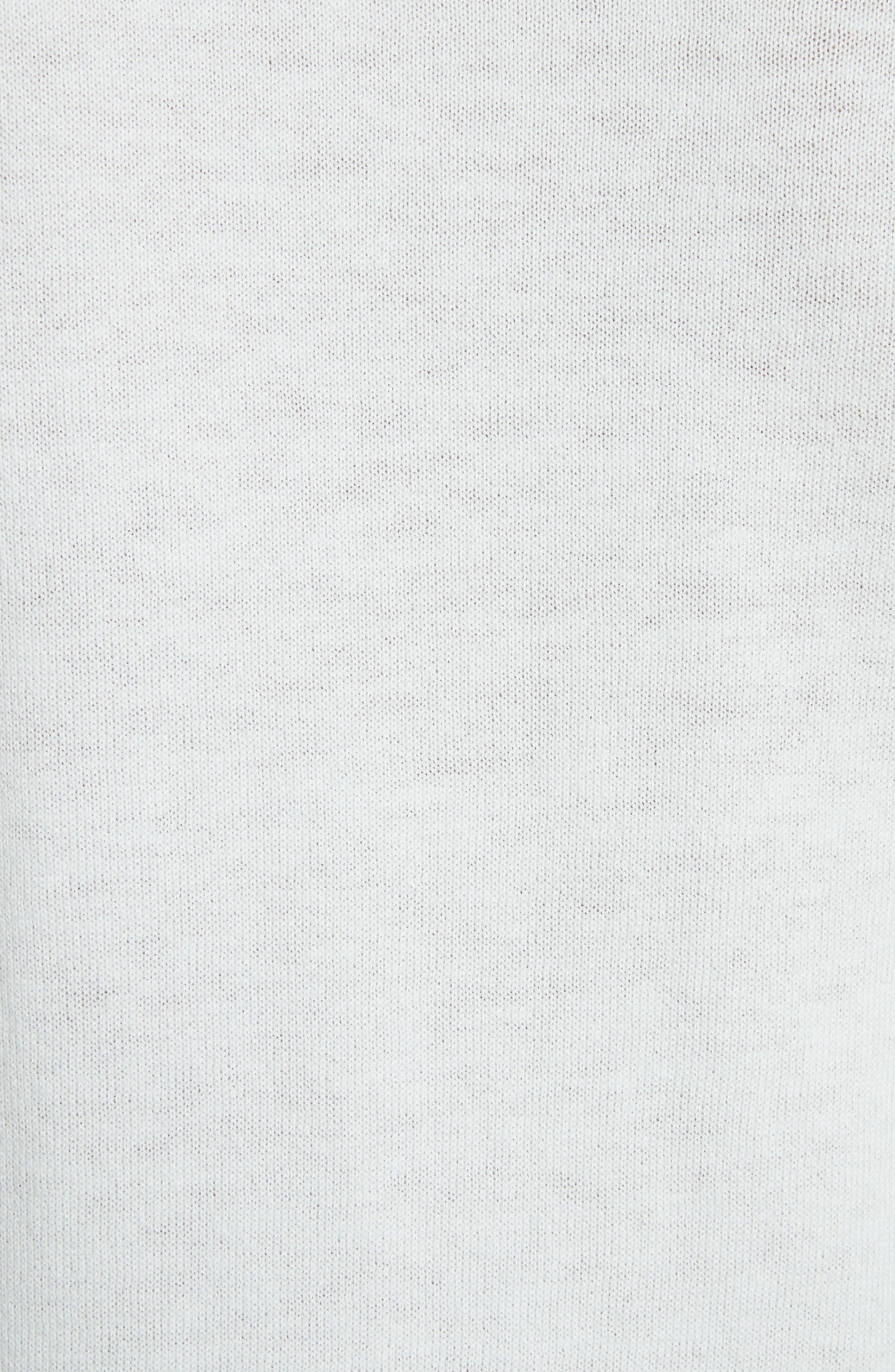 Soft Blossom Burnout Front Sweater,                             Alternate thumbnail 5, color,                             Mint