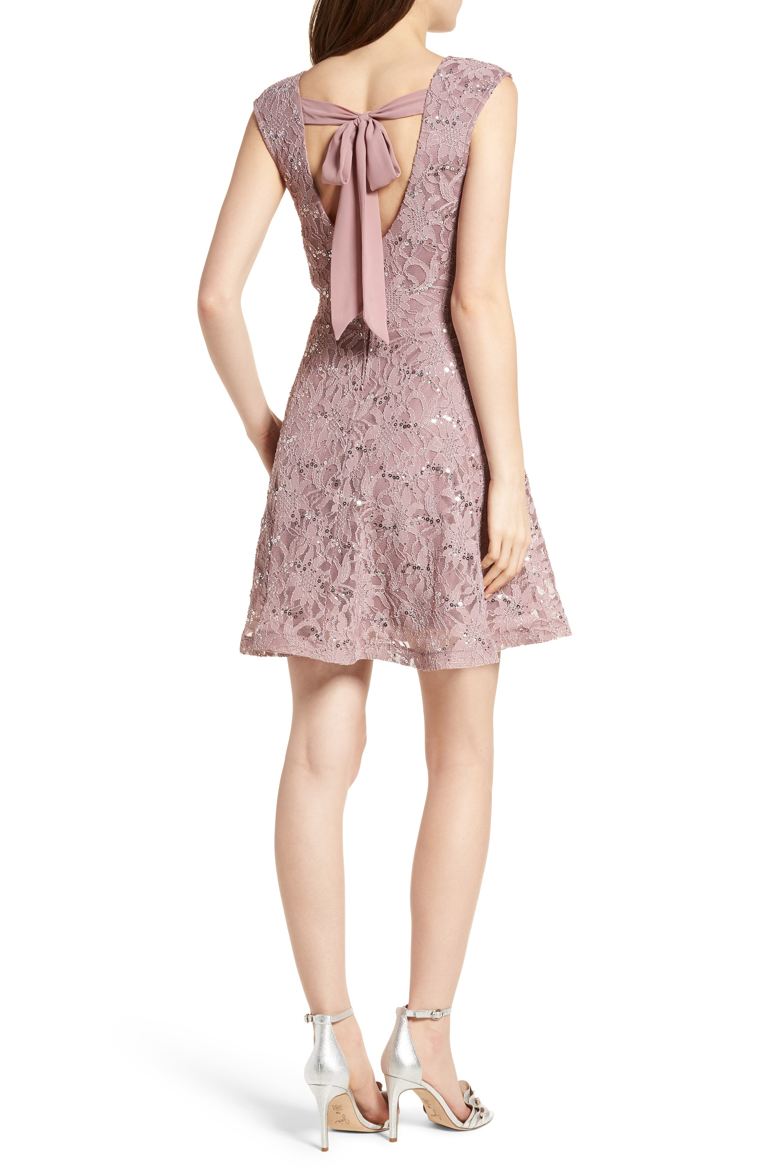 Alternate Image 2  - Speechless Sequin Lace Fit & Flare Dress