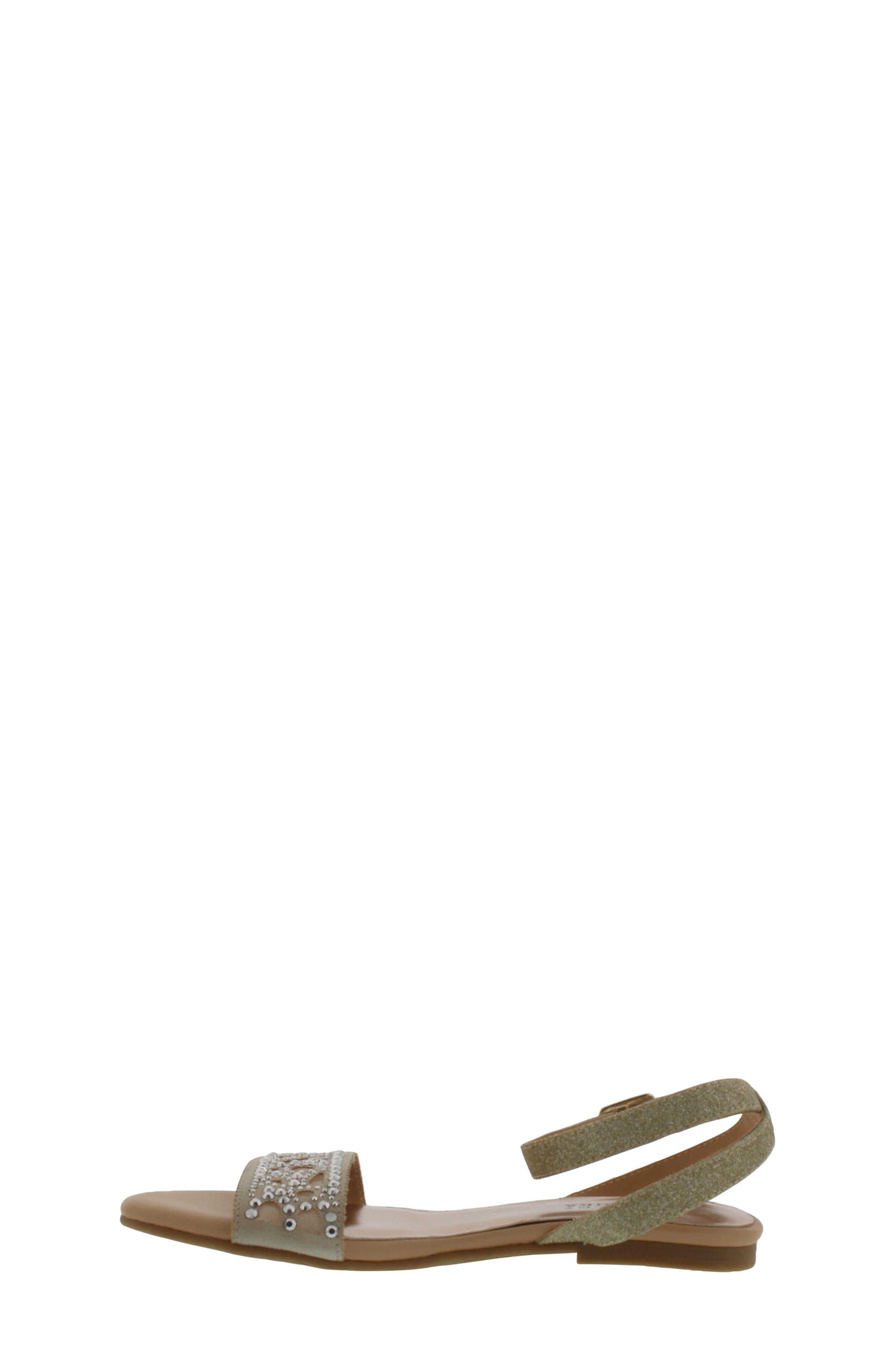Alternate Image 3  - Badgley Mischka Cara Embellished Sandal (Toddler, Little Kid & Big Kid)