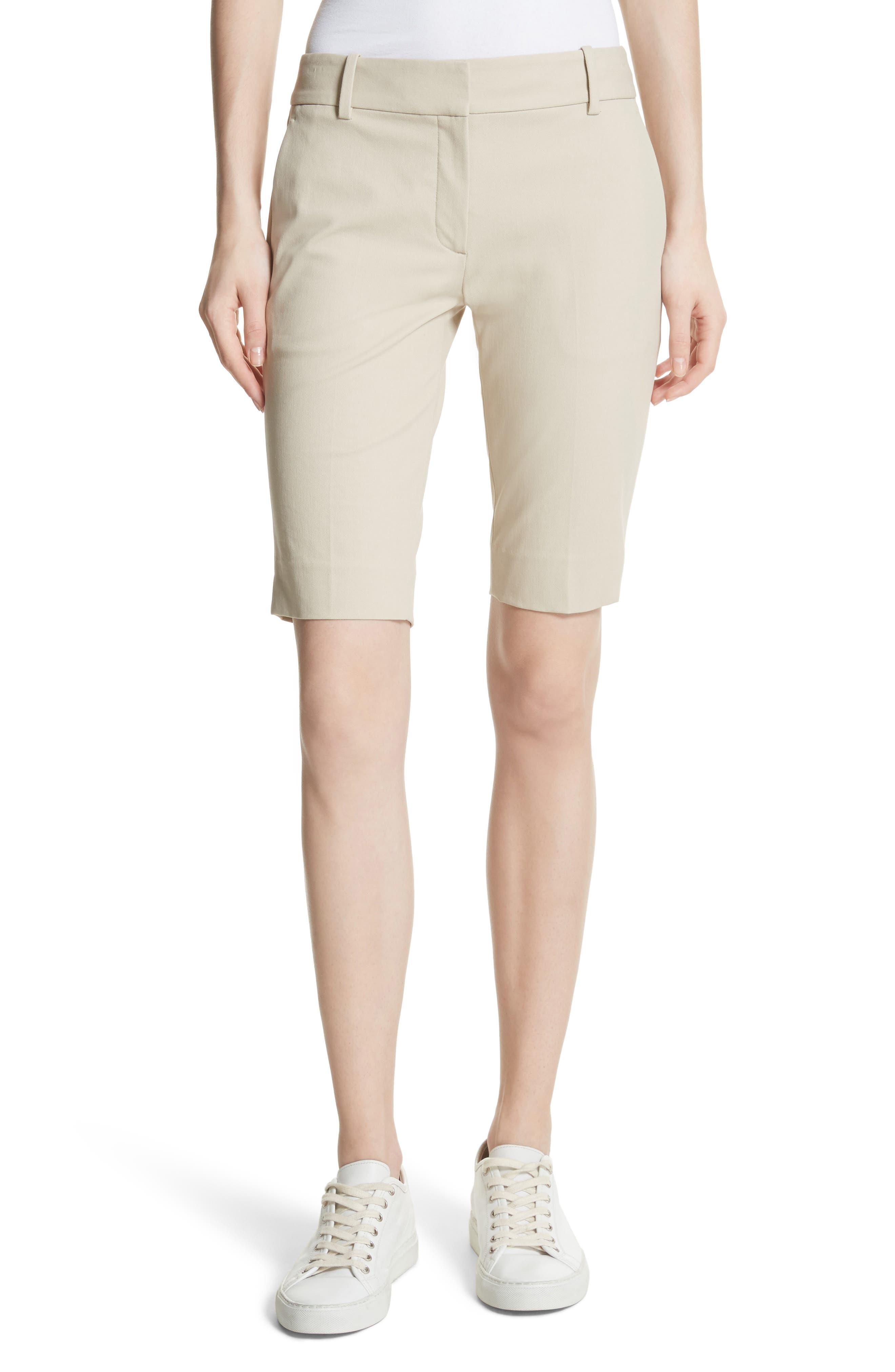 Theory Approach Stretch Twill Slim Bermuda Shorts