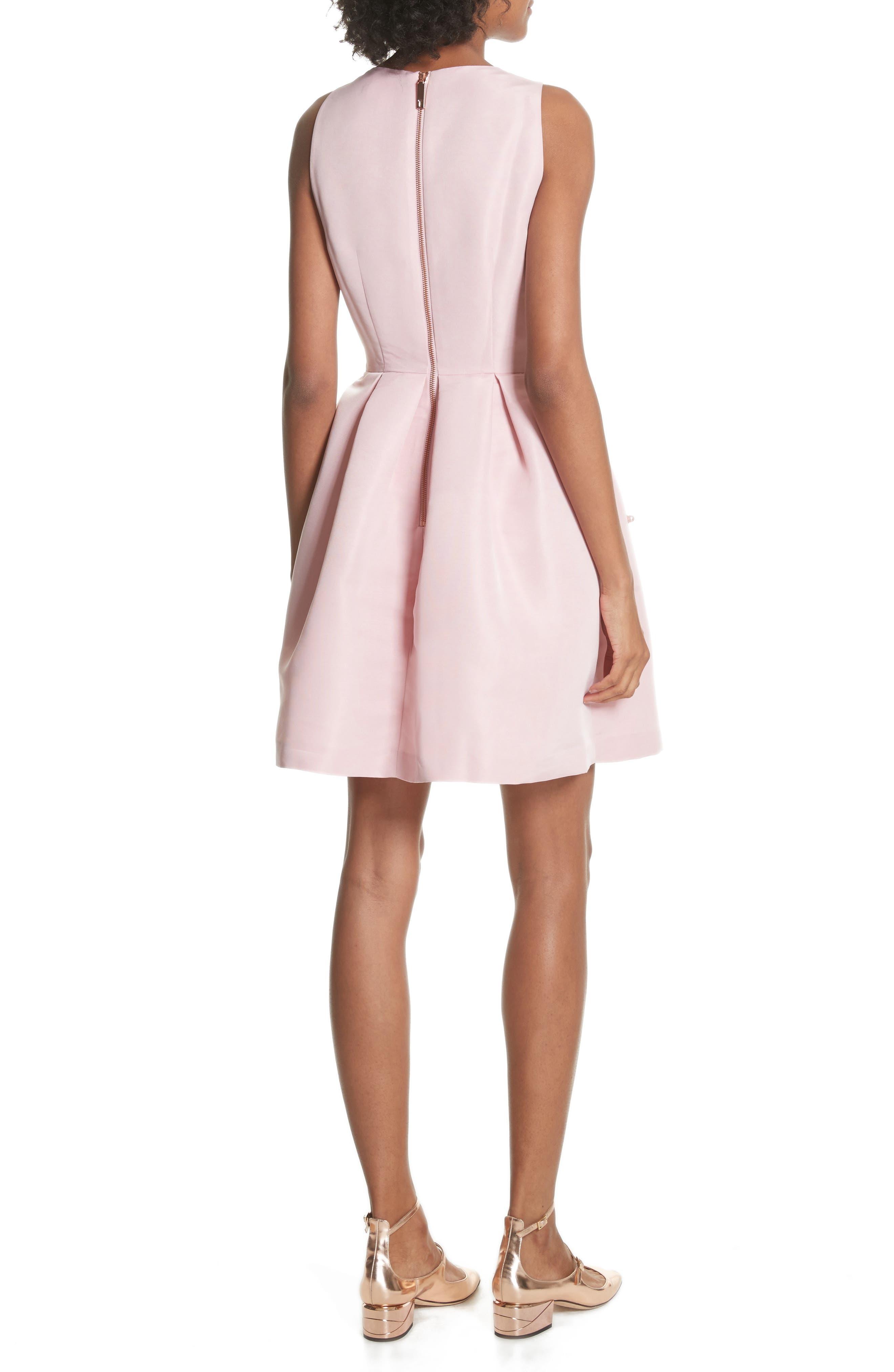 Embellished Skater Dress,                             Alternate thumbnail 2, color,                             Baby Pink