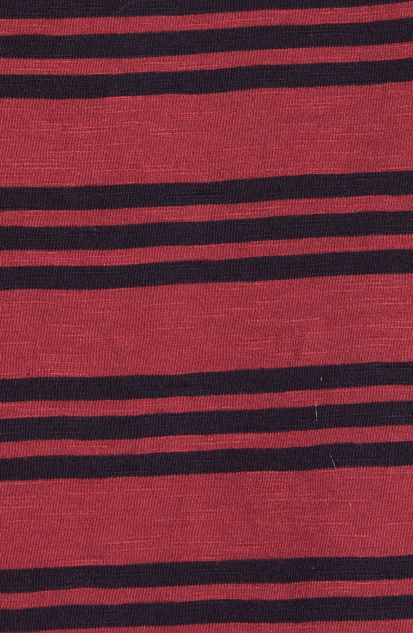 Alternate Image 5  - French Connection Triple Stripe Garment Dyed T-Shirt