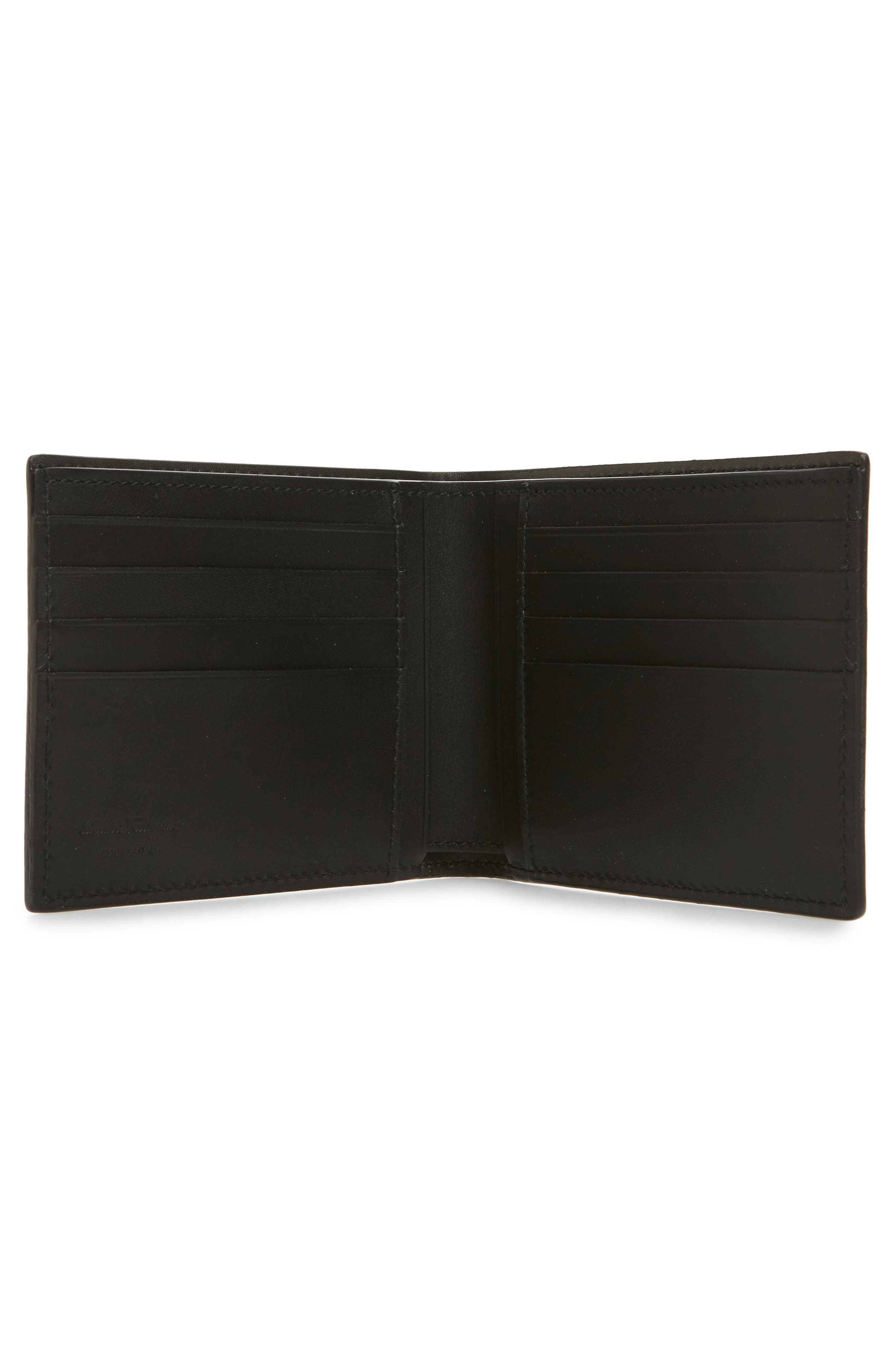 Alternate Image 2  - Salvatore Ferragamo Calfskin Leather Bifold Card Case