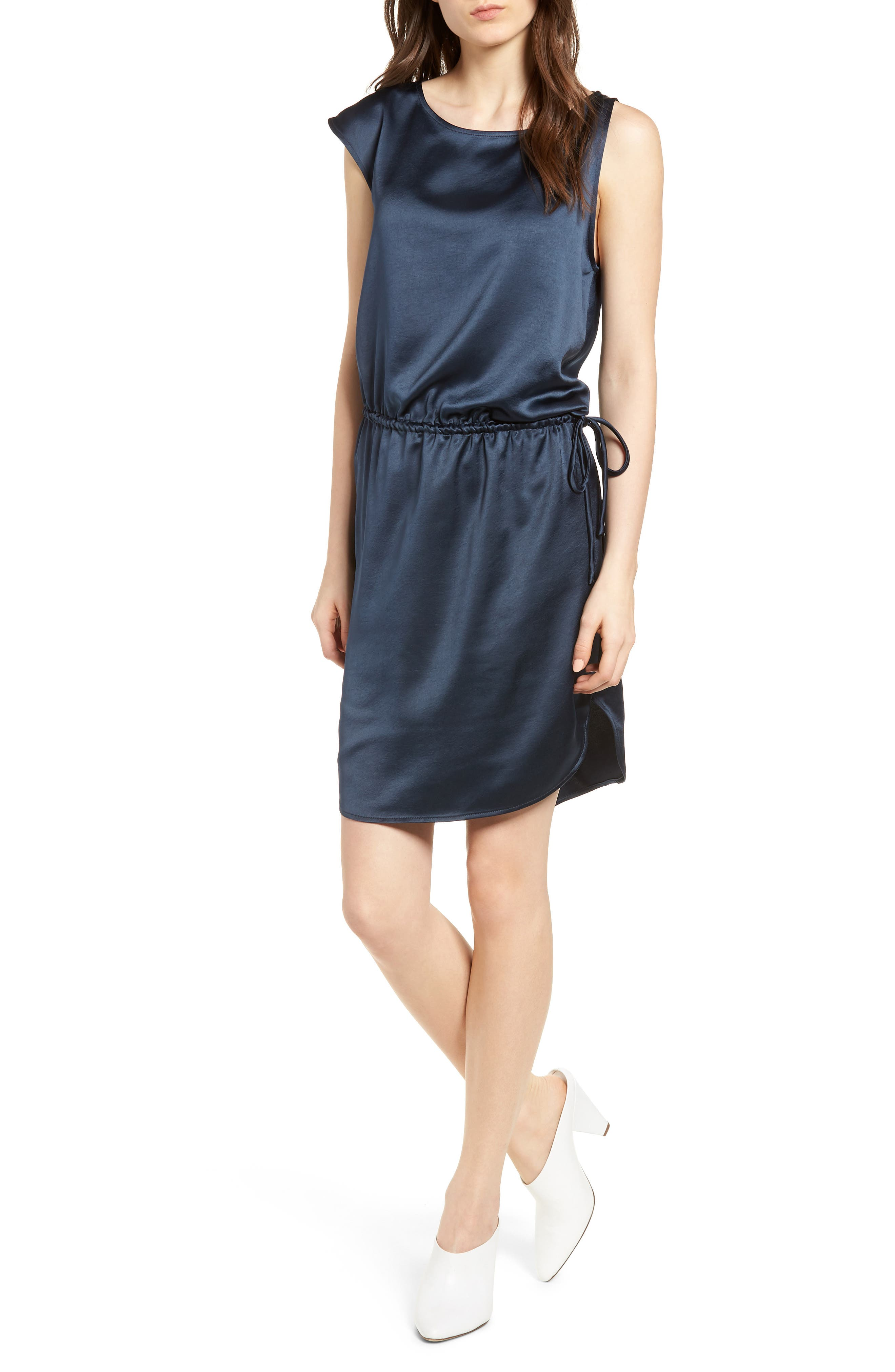 Trouvé Asymmetrical Ruched Dress