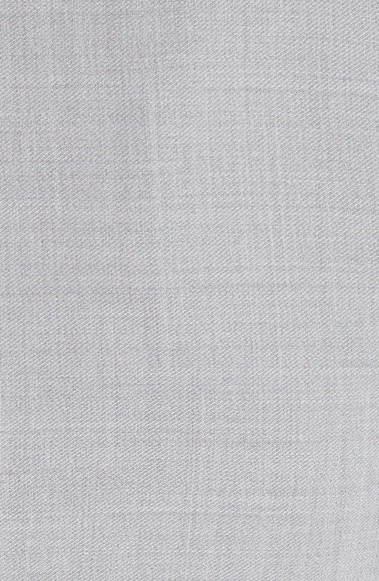 Wrap Panel Envelope Hem Dress,                             Alternate thumbnail 6, color,                             Light Grey Melange