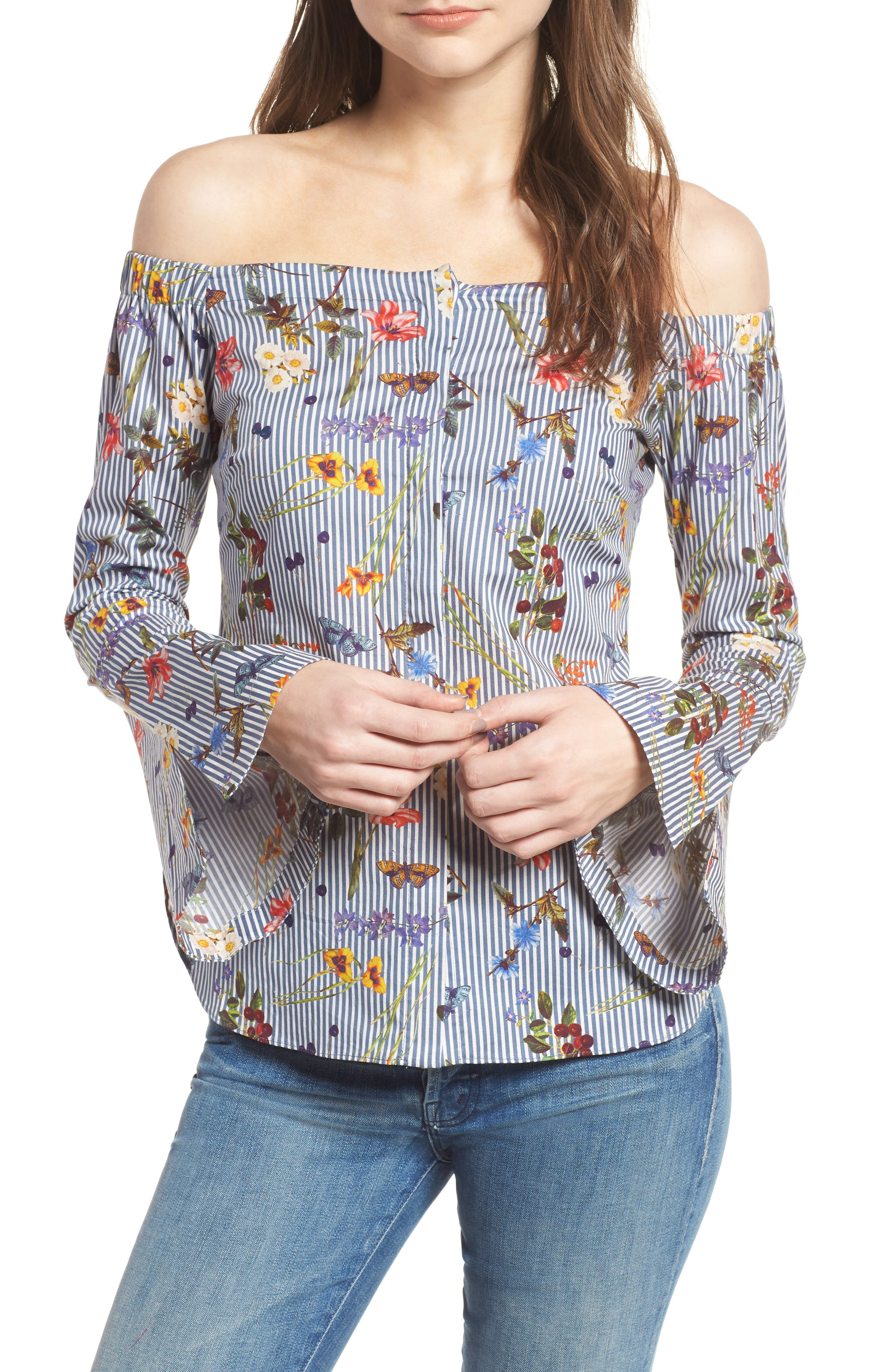Bailey 44 Horticulture Off the Shoulder Top