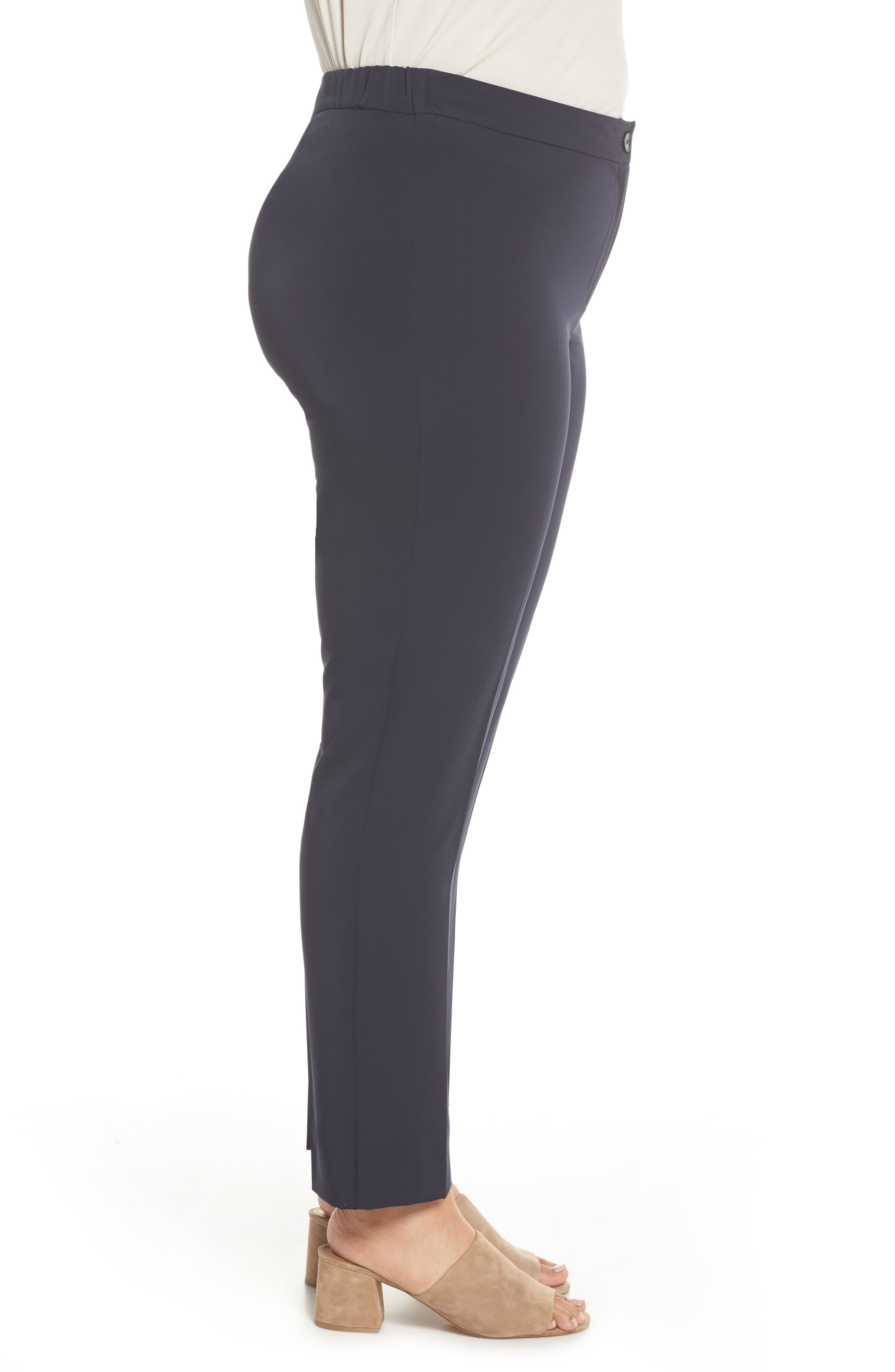 Slim Leg Pants,                             Alternate thumbnail 3, color,                             Dark Navy