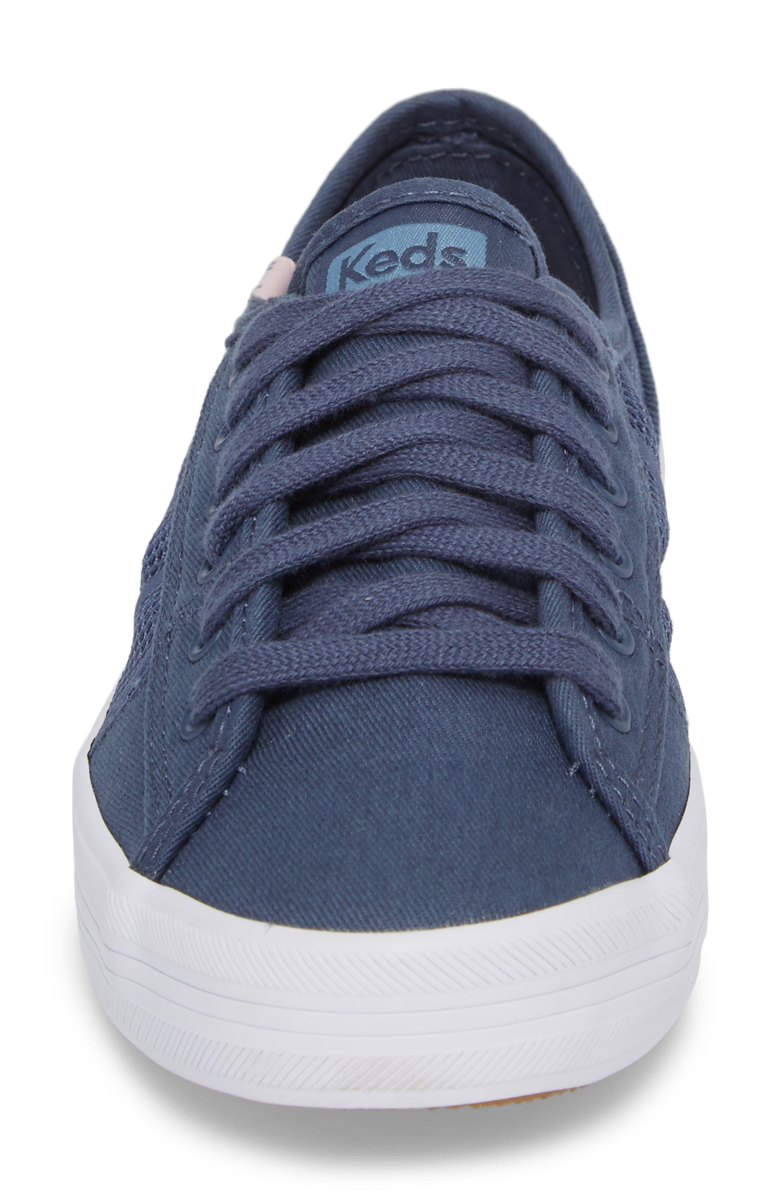 Kickstart Stripe Mesh Sneaker,                             Alternate thumbnail 4, color,                             Indigo
