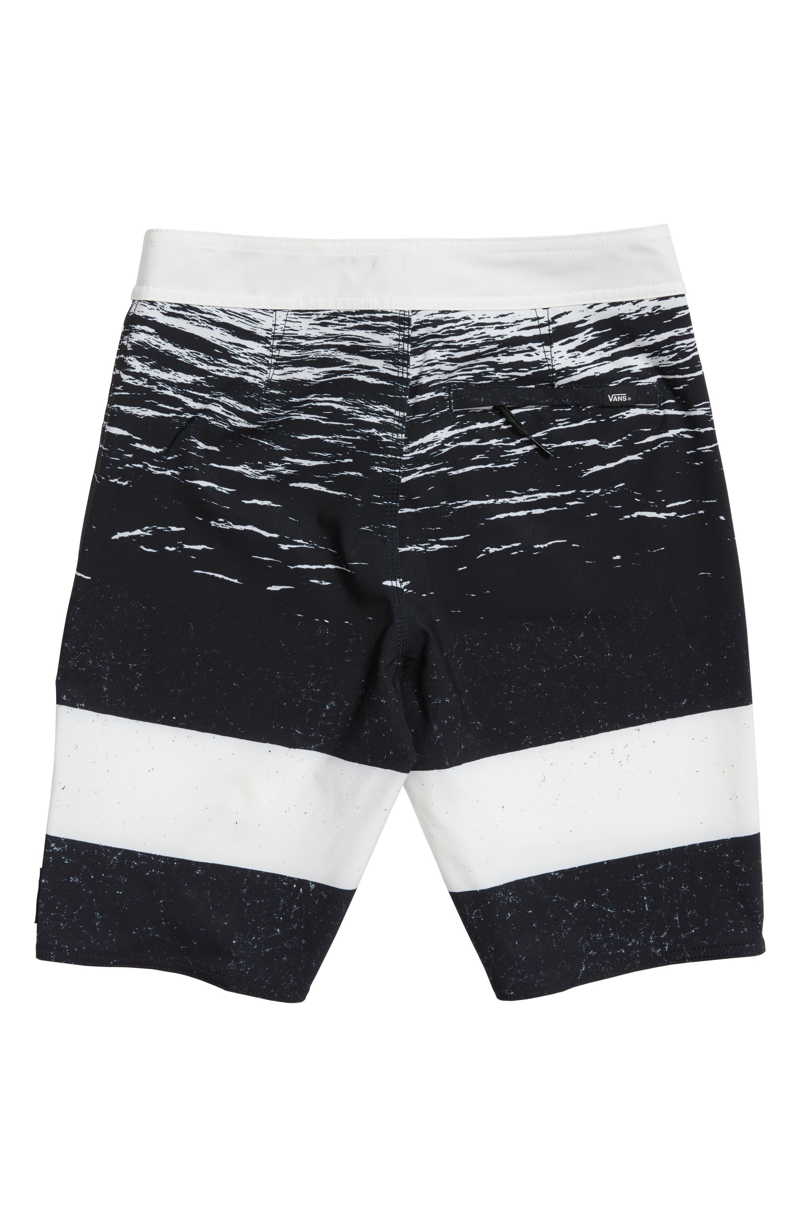 Era Board Shorts,                             Alternate thumbnail 2, color,                             White Dark Water