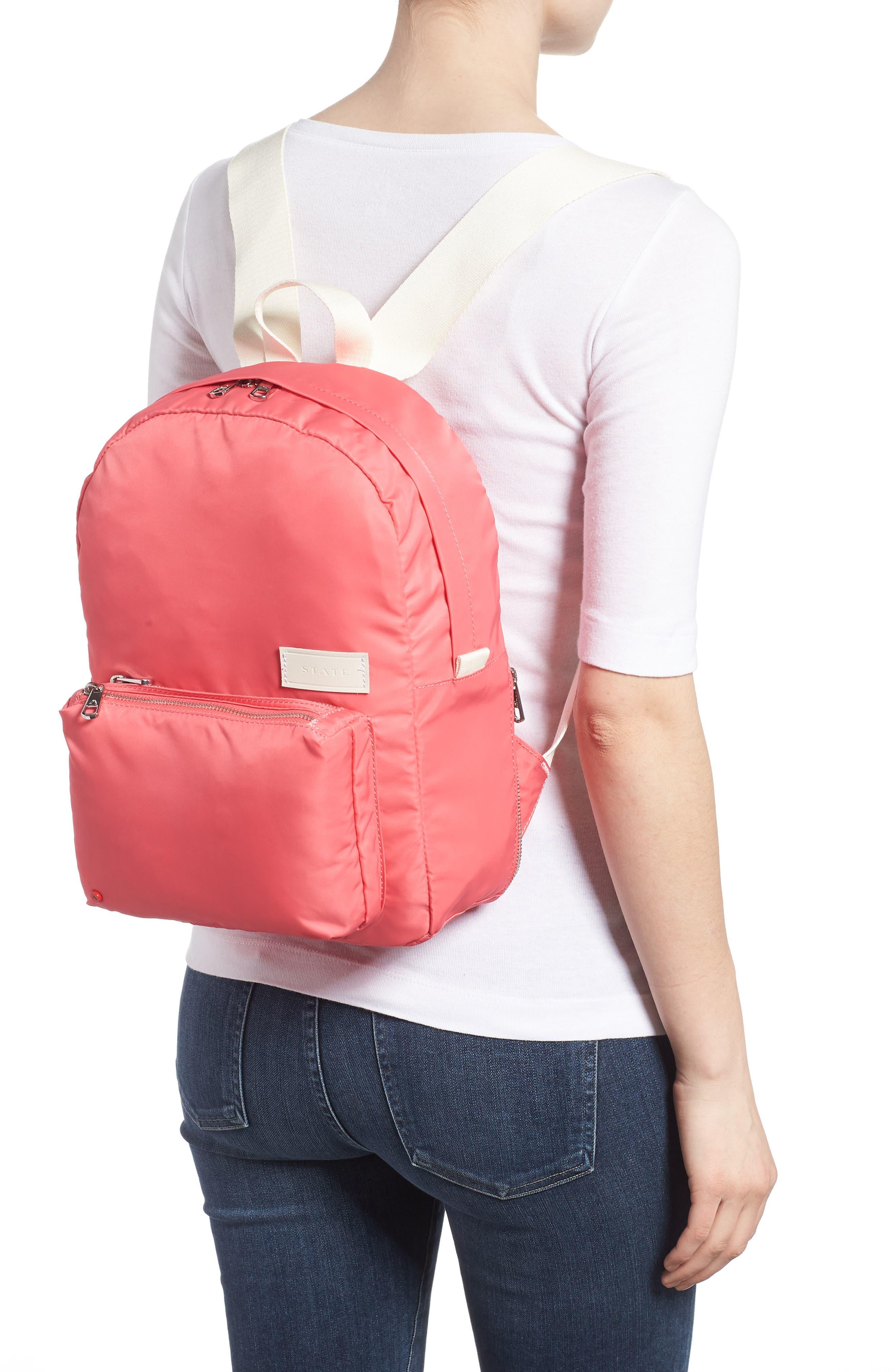 The Heights Mini Lorimer Nylon Backpack,                             Alternate thumbnail 2, color,                             Poppy