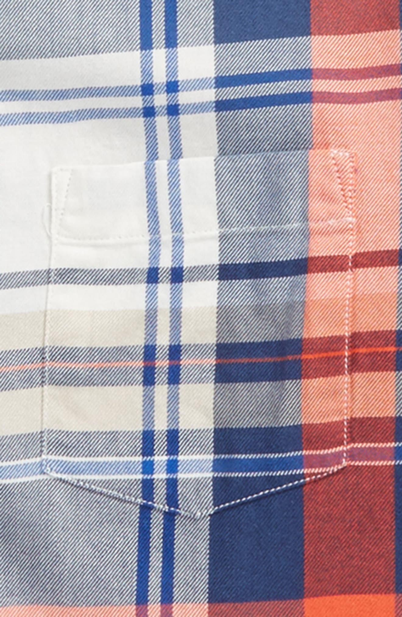 Benny Plaid Woven Shirt,                             Alternate thumbnail 2, color,                             Poppy Multi