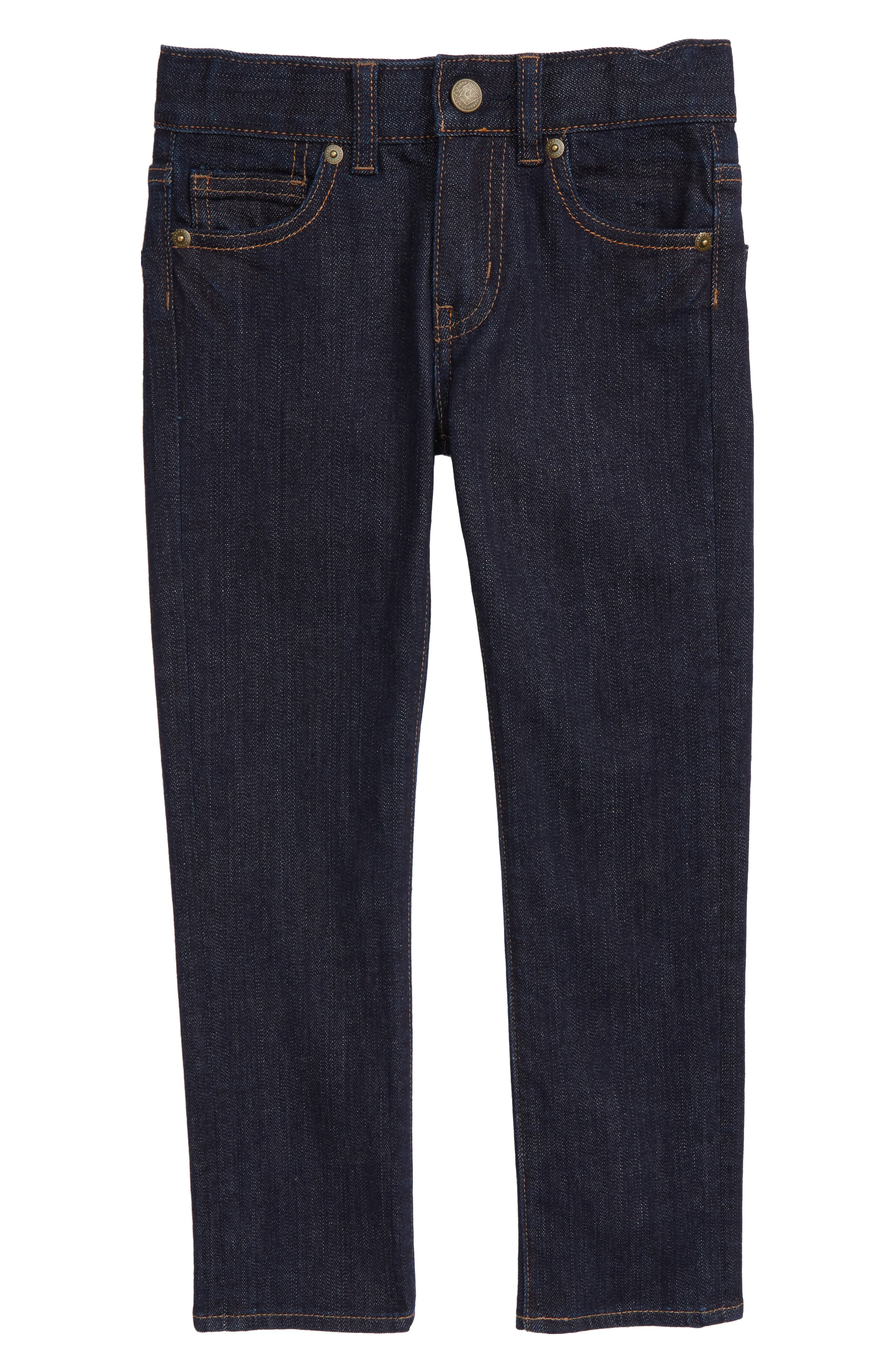 Alternate Image 1 Selected - crewcuts by J.Crew Slim Fit Jeans (Toddler Boys, Little Boys & Big Boys)