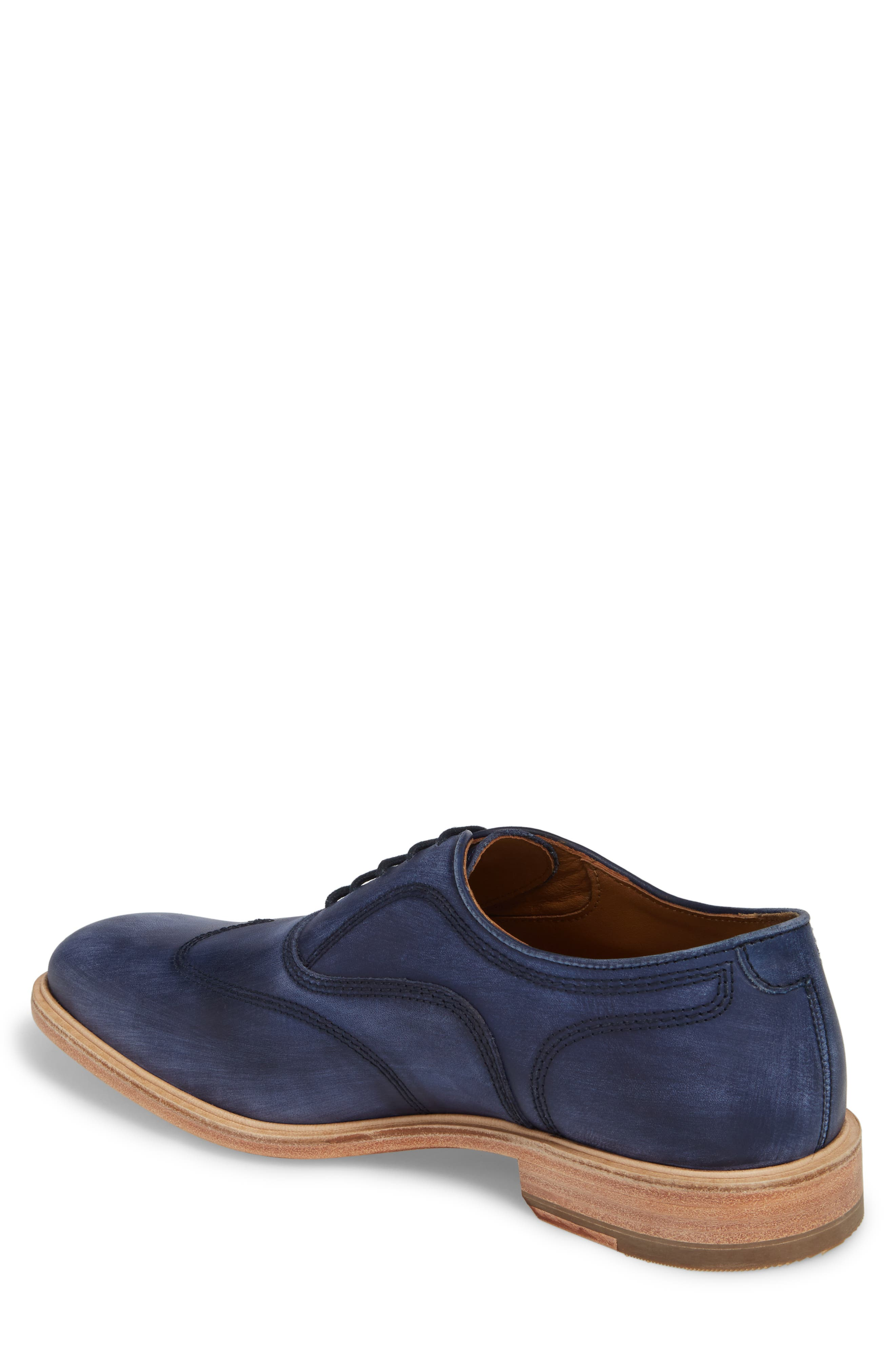 Chambliss Wingtip Oxford,                             Alternate thumbnail 2, color,                             Navy Leather