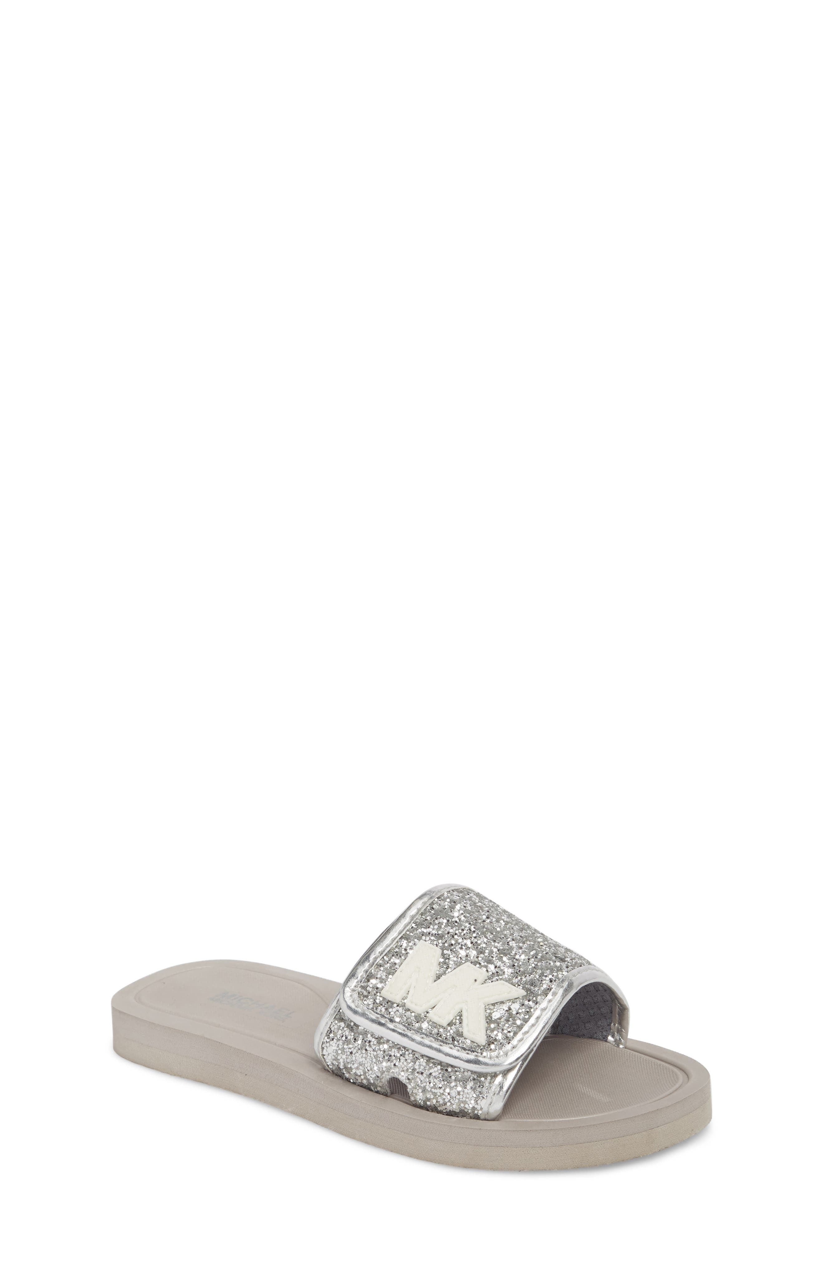 MICHAEL Michael Kors Eli Glow Glitter Slide Sandal (Toddler, Little Kid & Big Kid)