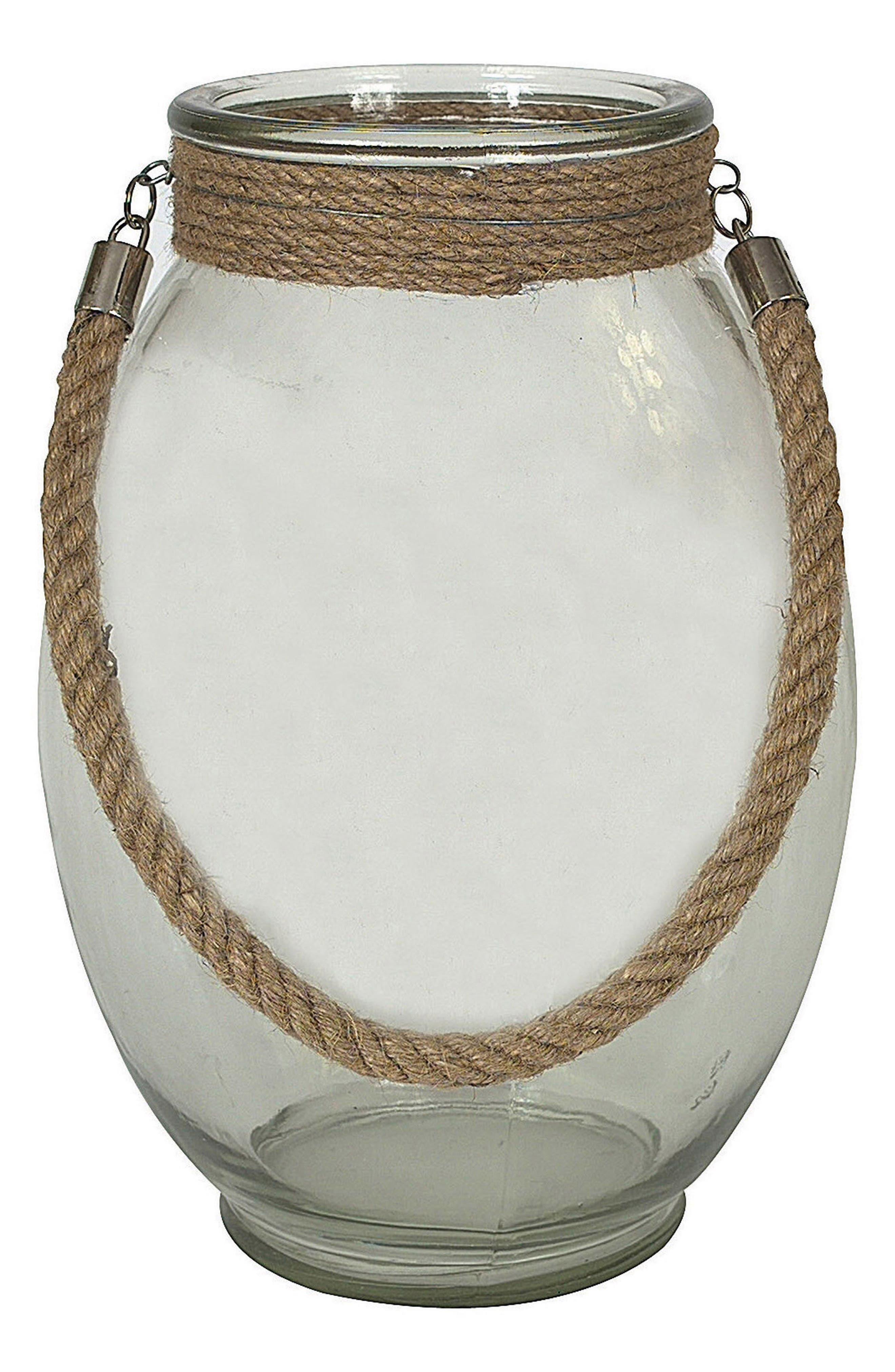 Glass Vase,                             Main thumbnail 1, color,                             Brown