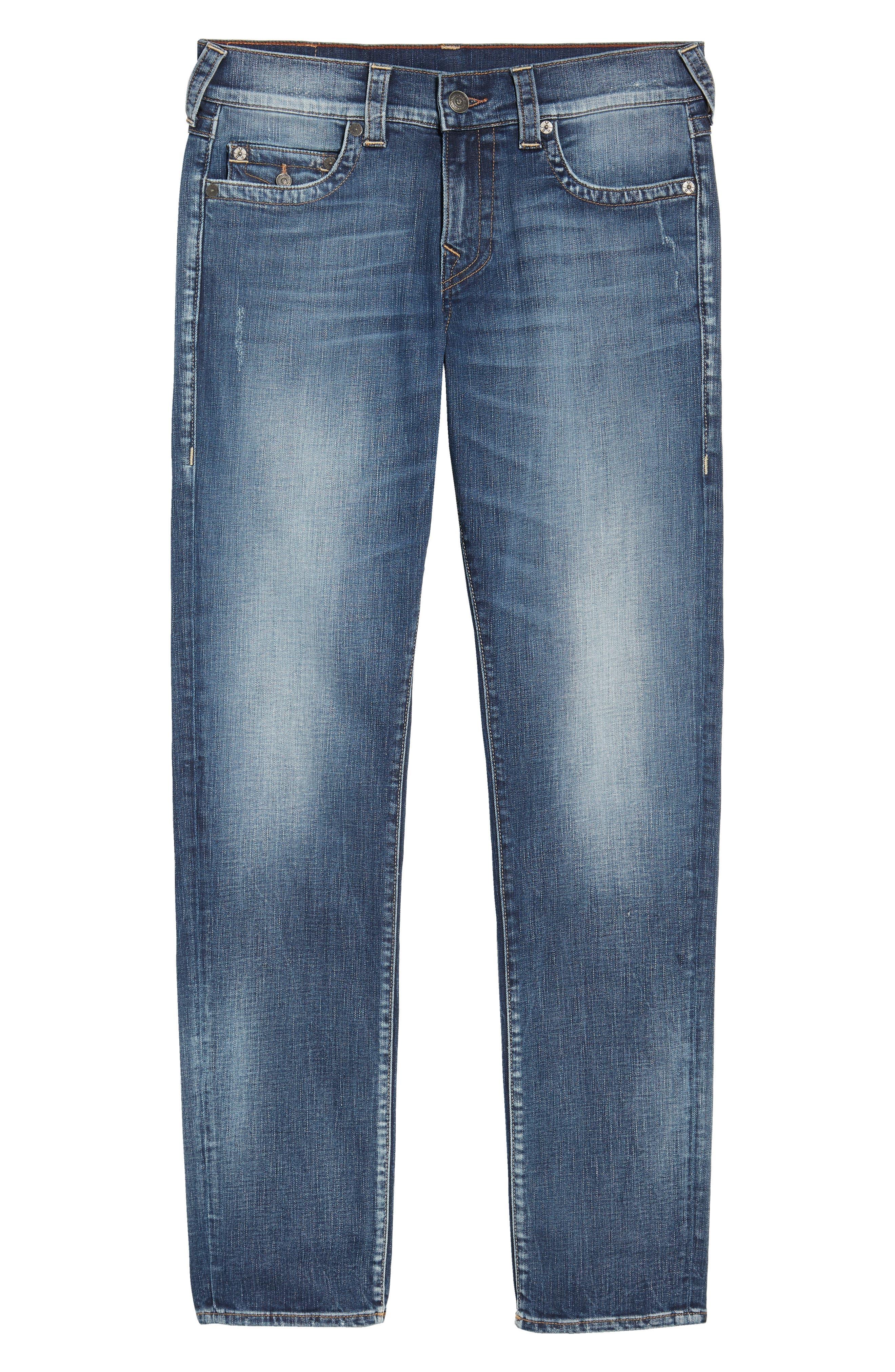 Geno Straight Leg Jeans,                             Alternate thumbnail 6, color,                             Morning Haze