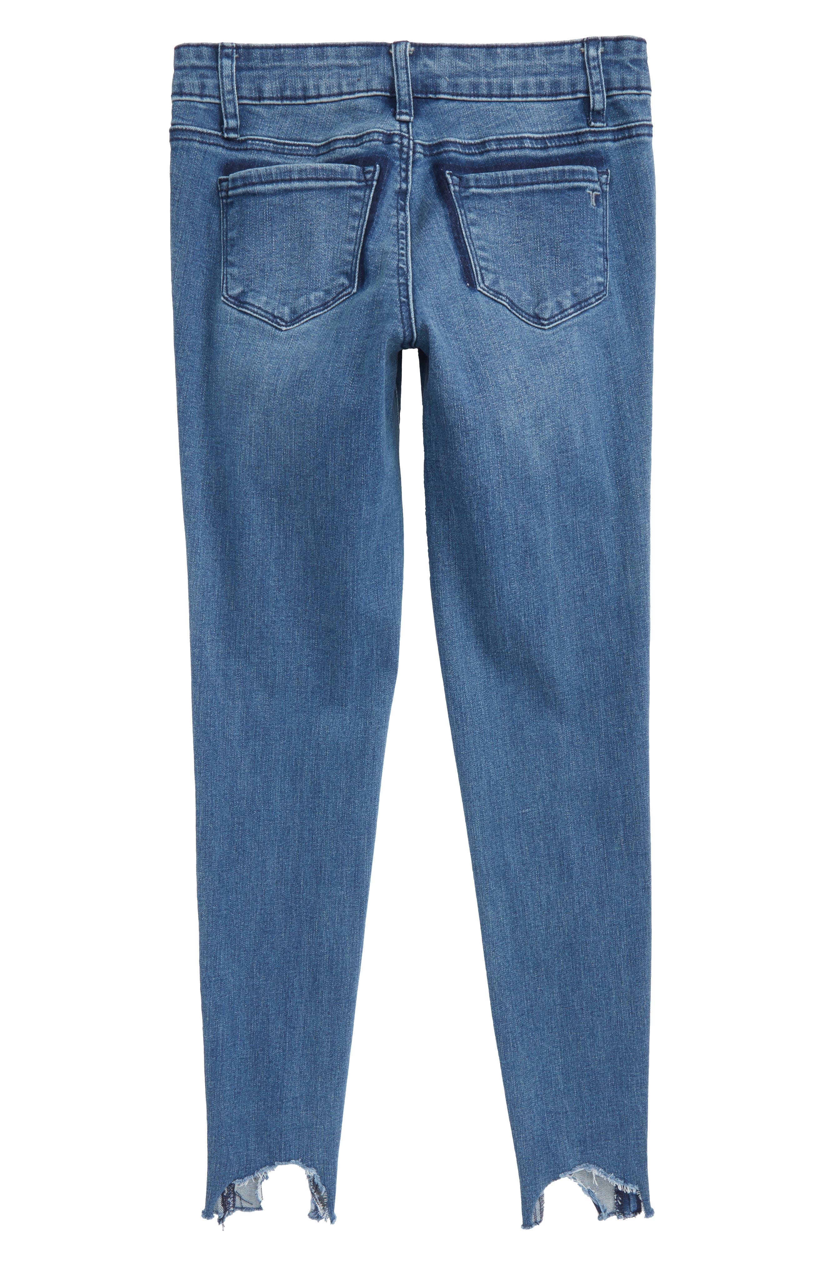 Crop Skinny Jeans,                             Alternate thumbnail 3, color,                             Indigo