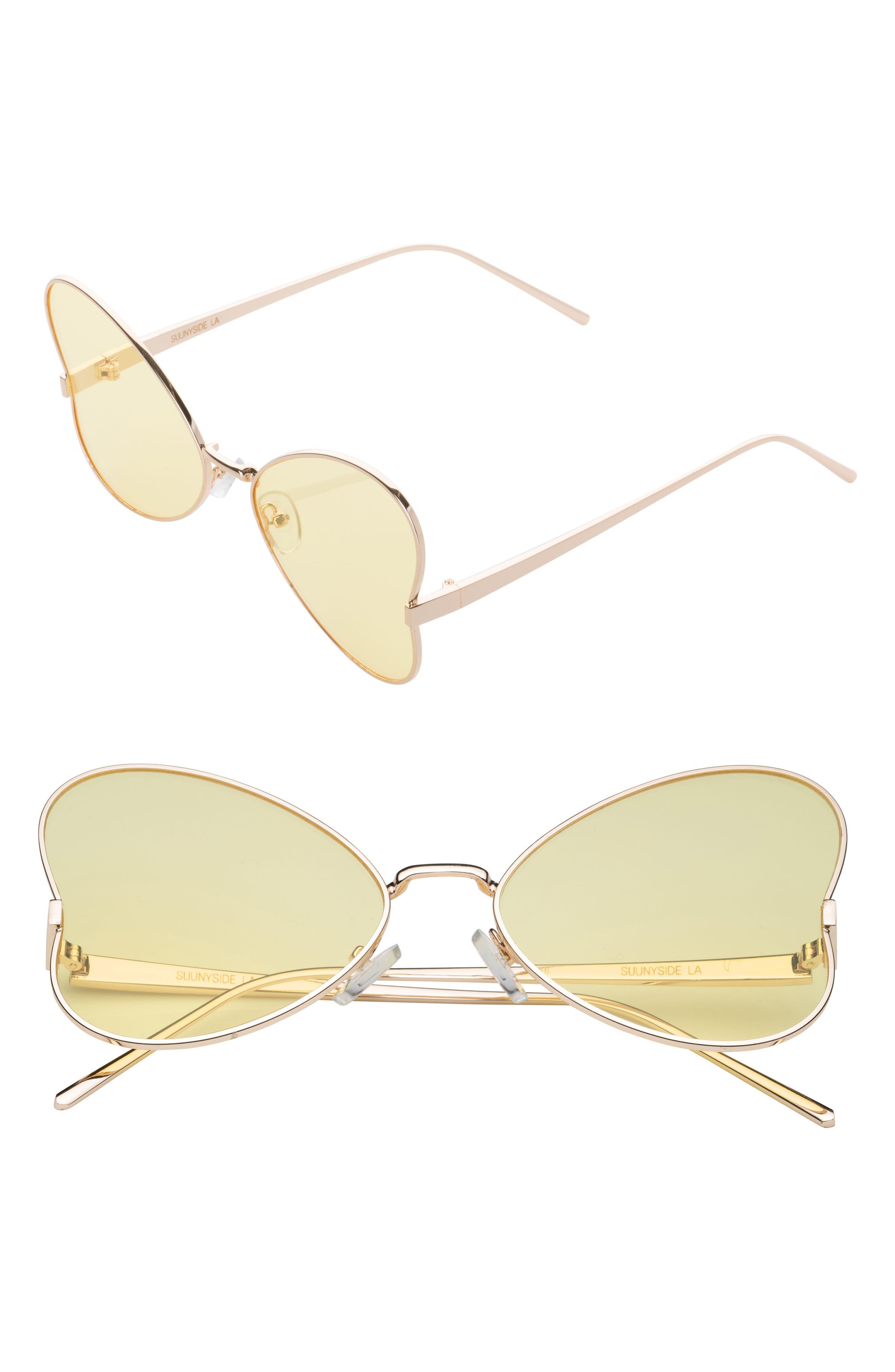 SunnySide LA 56mm Heart Sunglasses