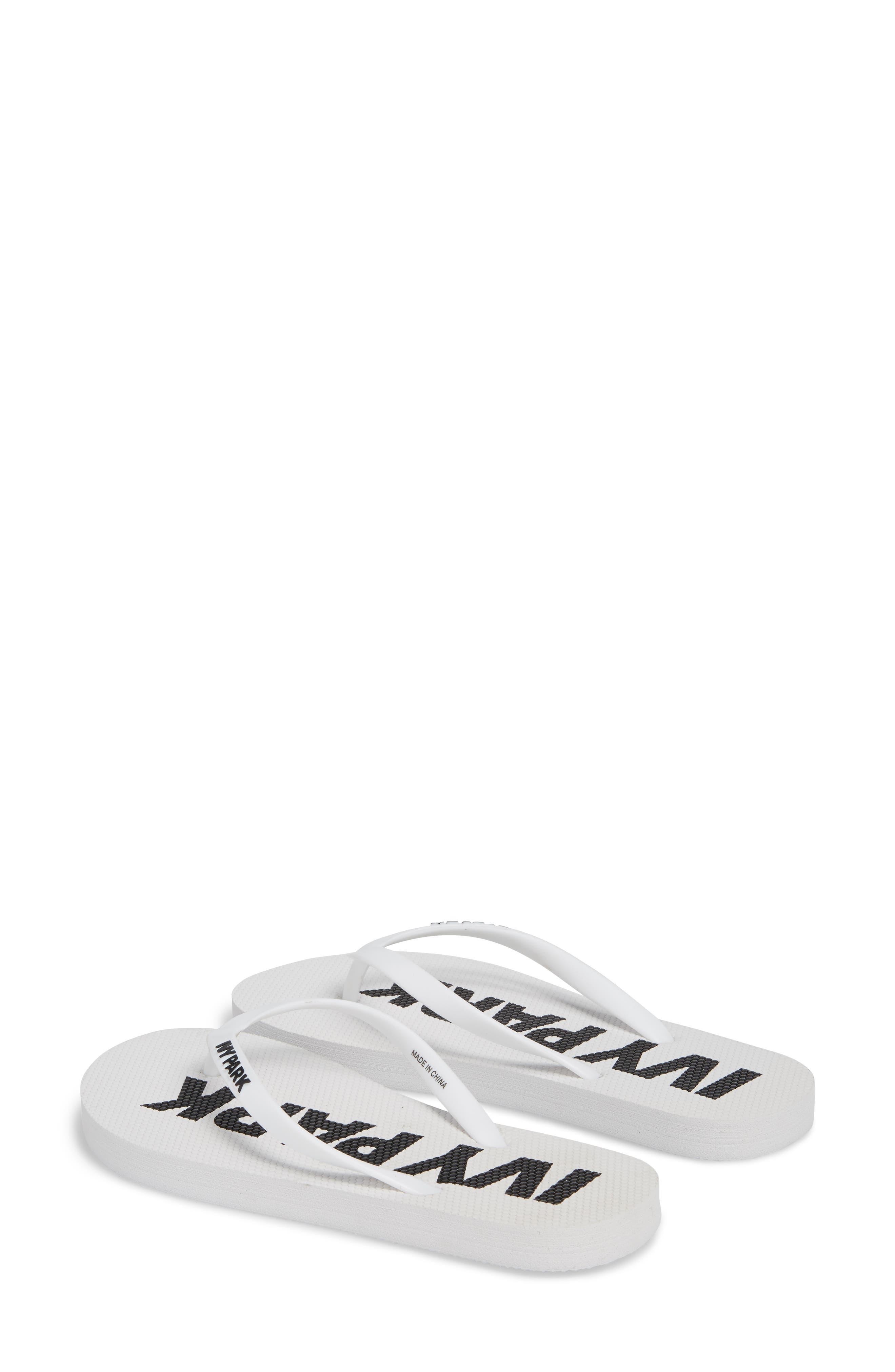 Logo Flip Flop,                             Alternate thumbnail 2, color,                             White