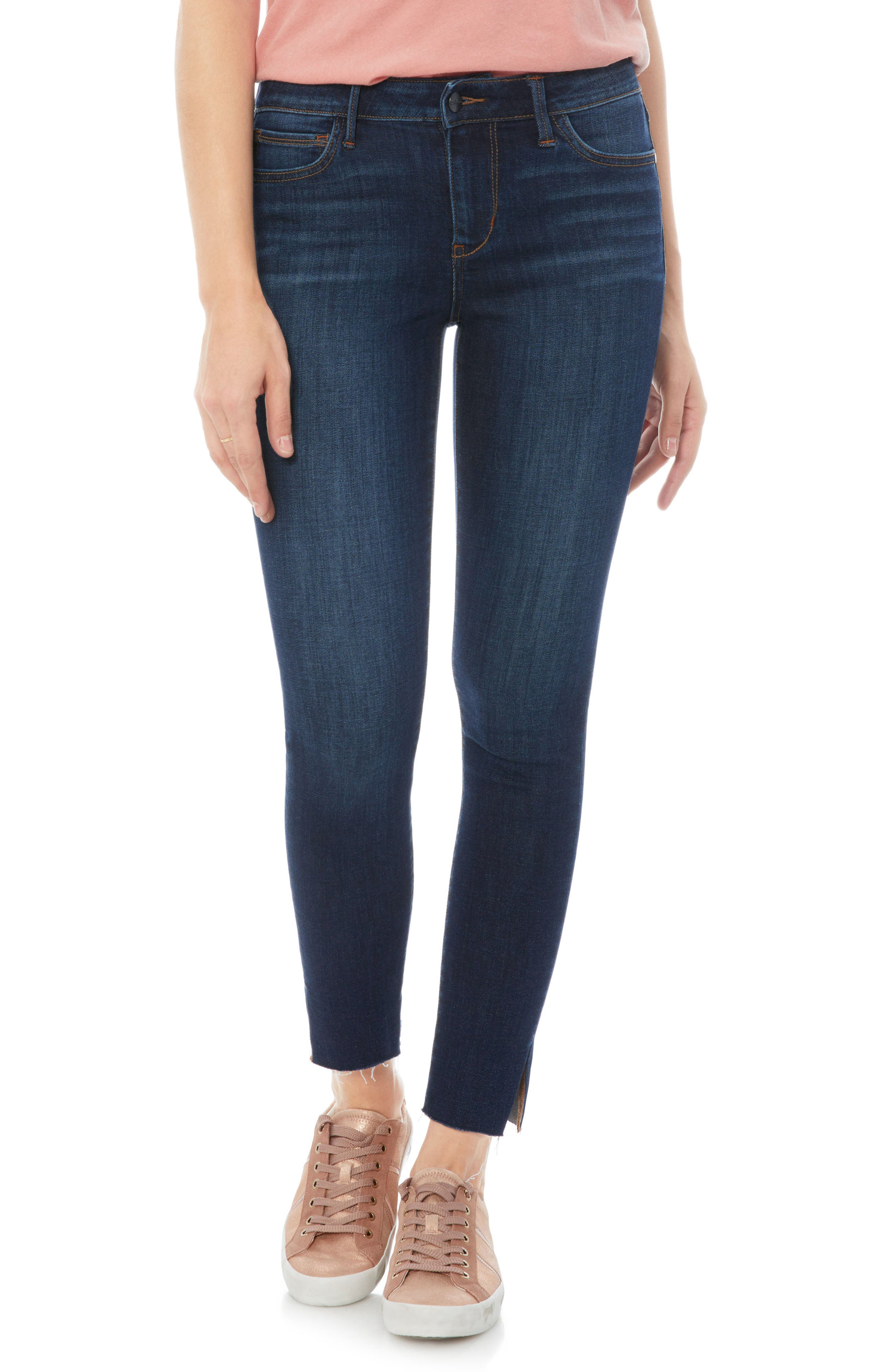 The Kitten Side Slit Skinny Jeans,                         Main,                         color, Jacob
