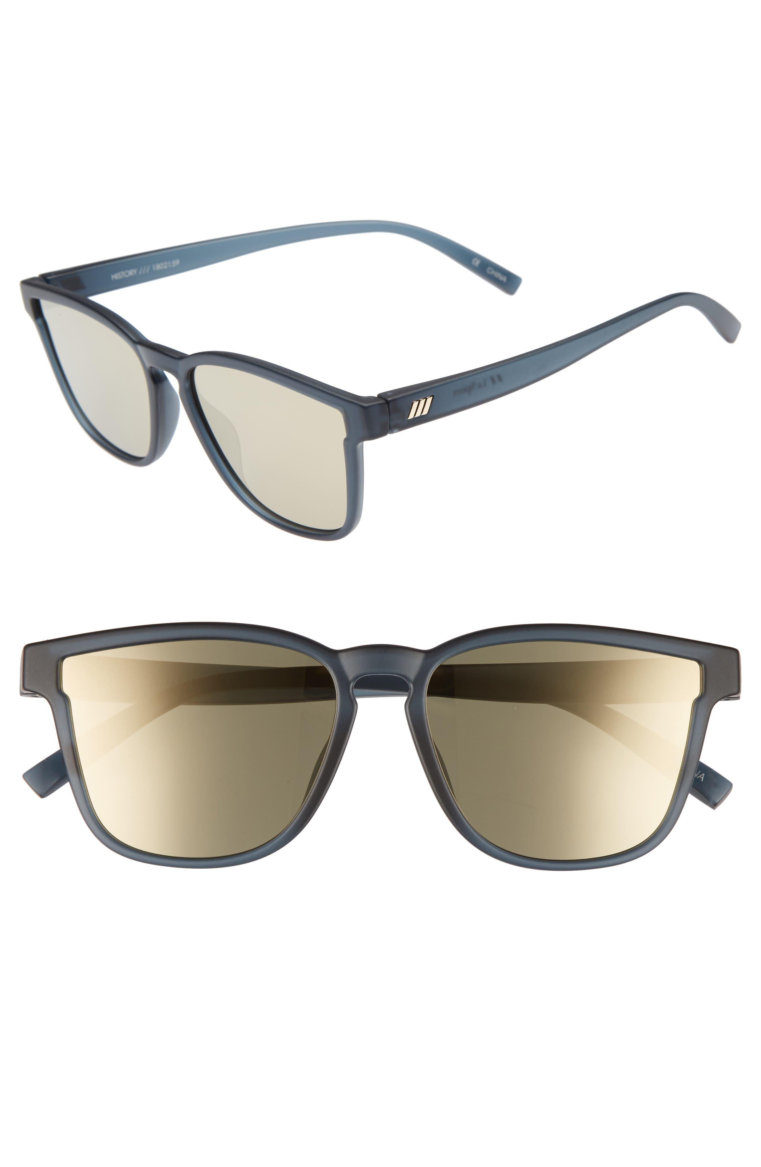 History 53mm Modern Rectangle Sunglasses,                         Main,                         color, Matte Midnight