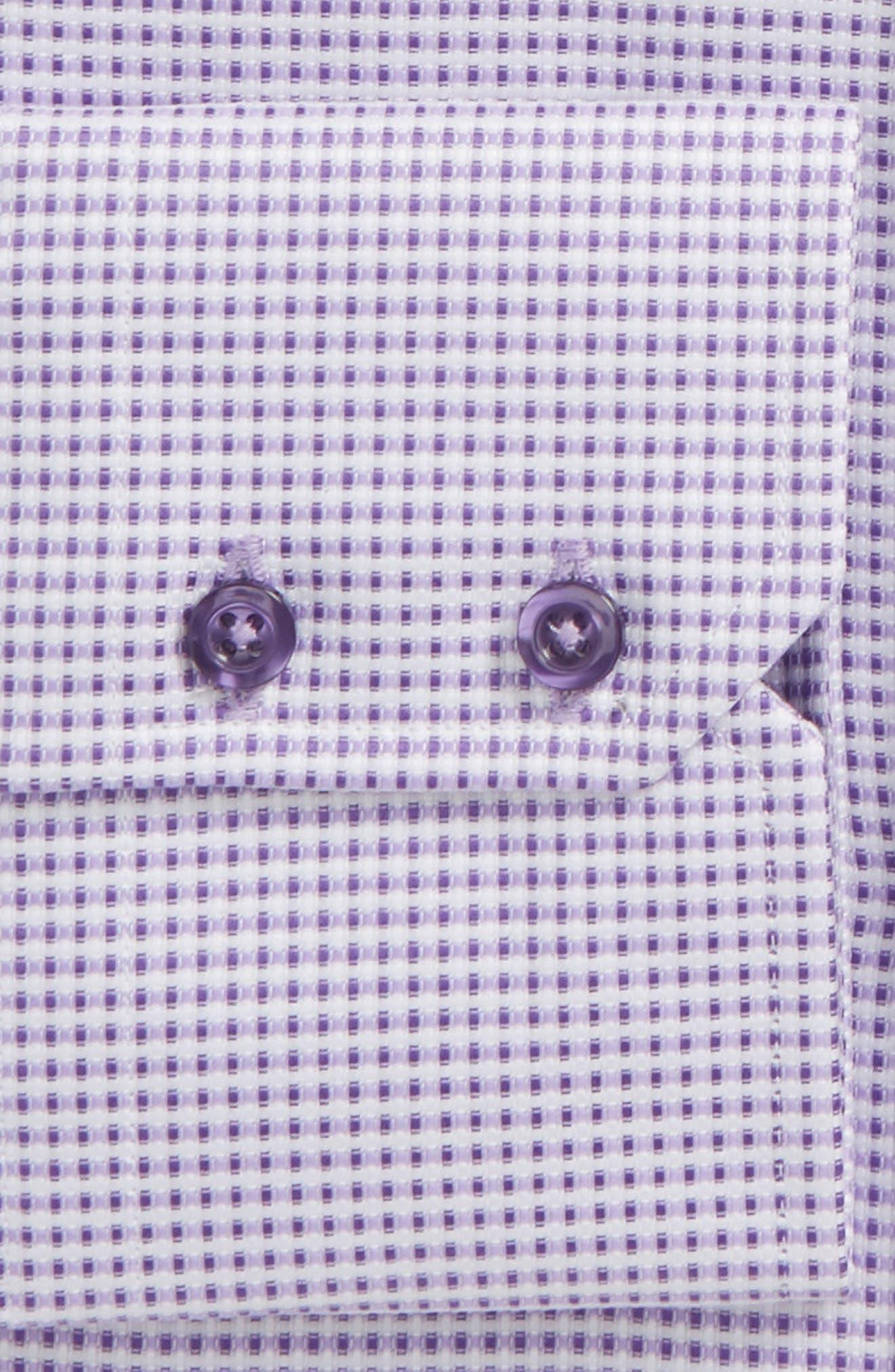 Trim Fit Dobby Dress Shirt,                             Alternate thumbnail 2, color,                             Lilac