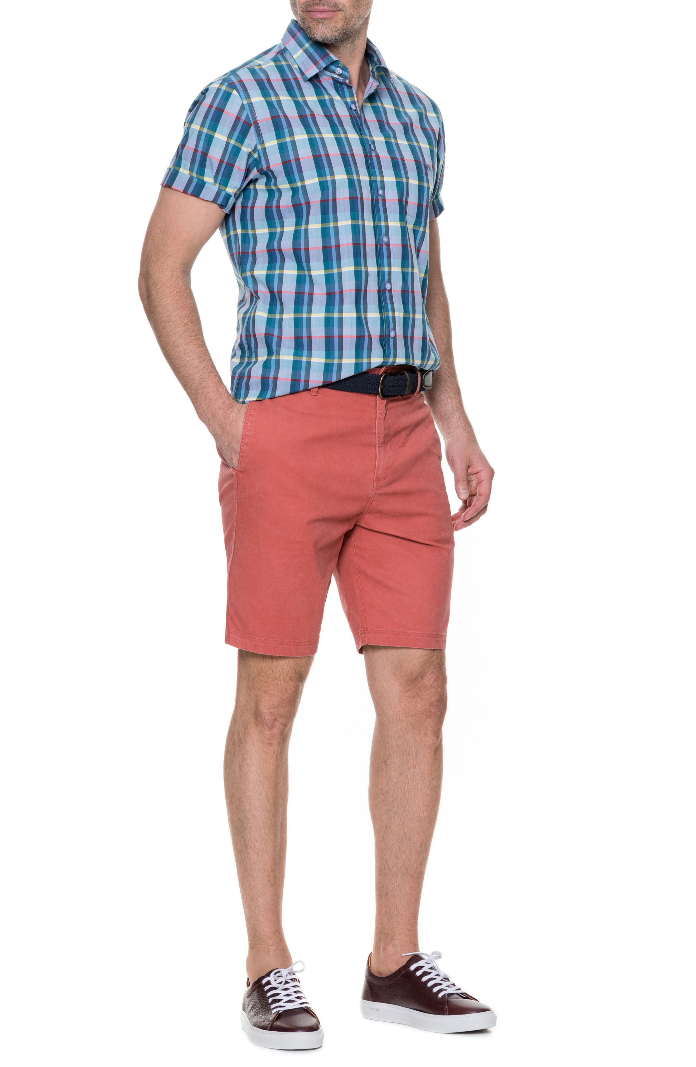 Glenburn Shorts,                             Alternate thumbnail 7, color,                             Red Ochre