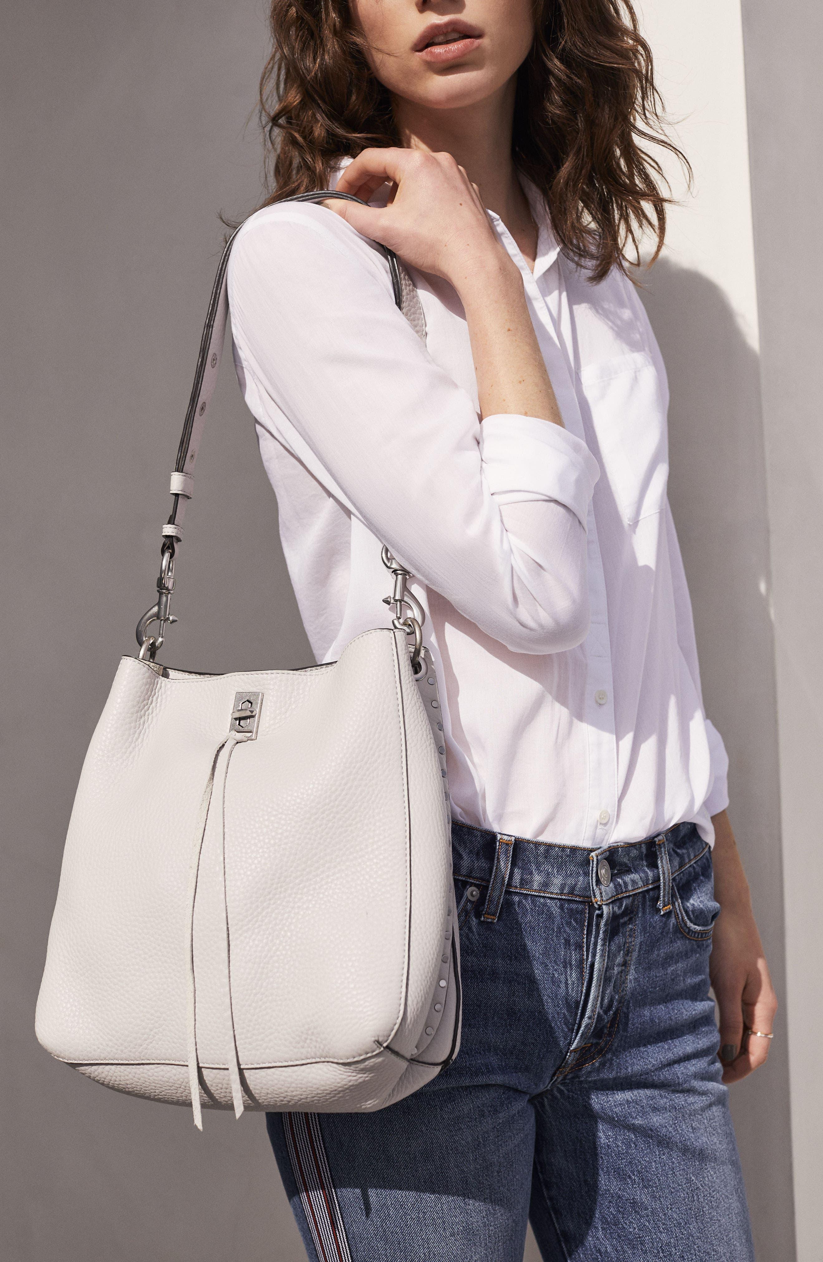 Darren Deerskin Leather Shoulder Bag,                             Alternate thumbnail 7, color,