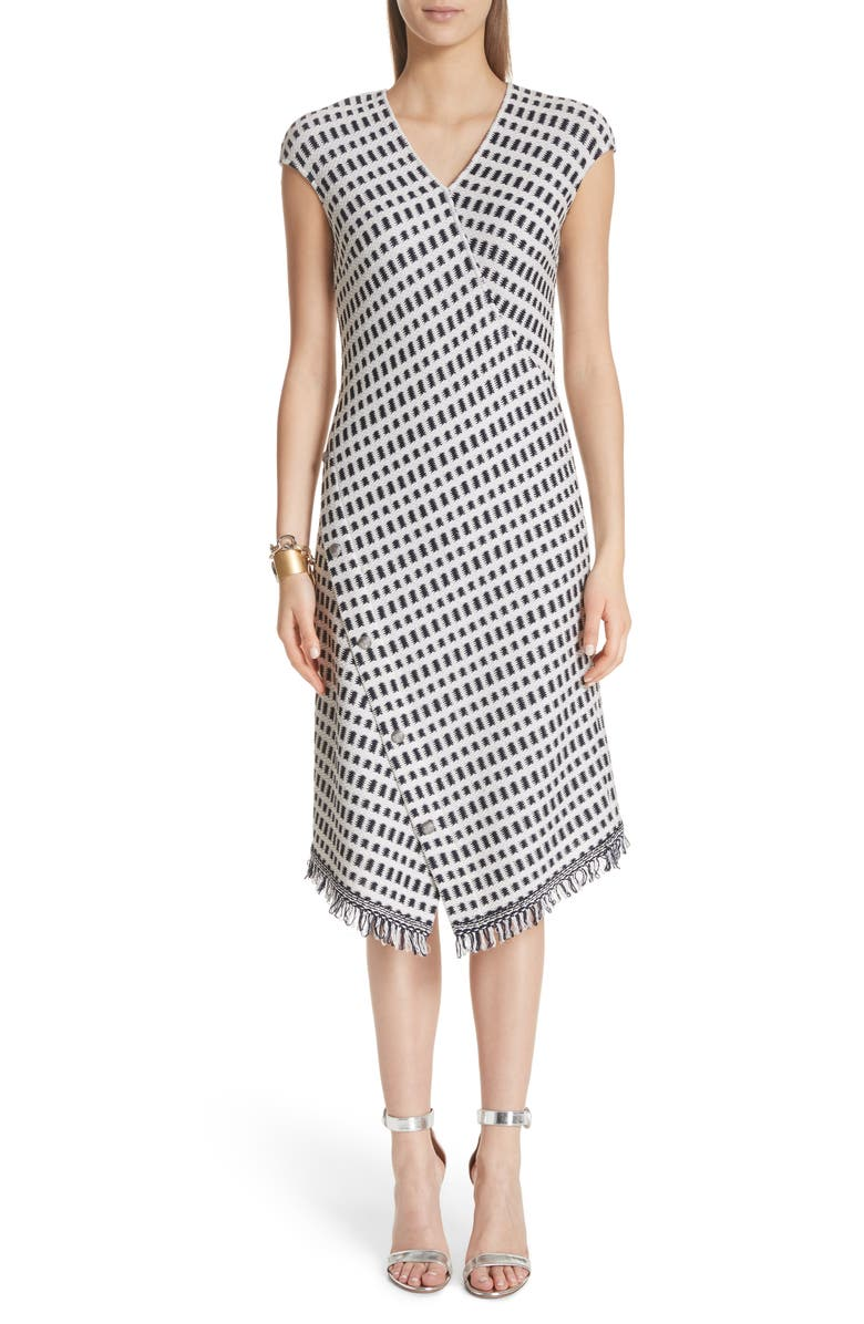 Thatched Grid Knit Dress