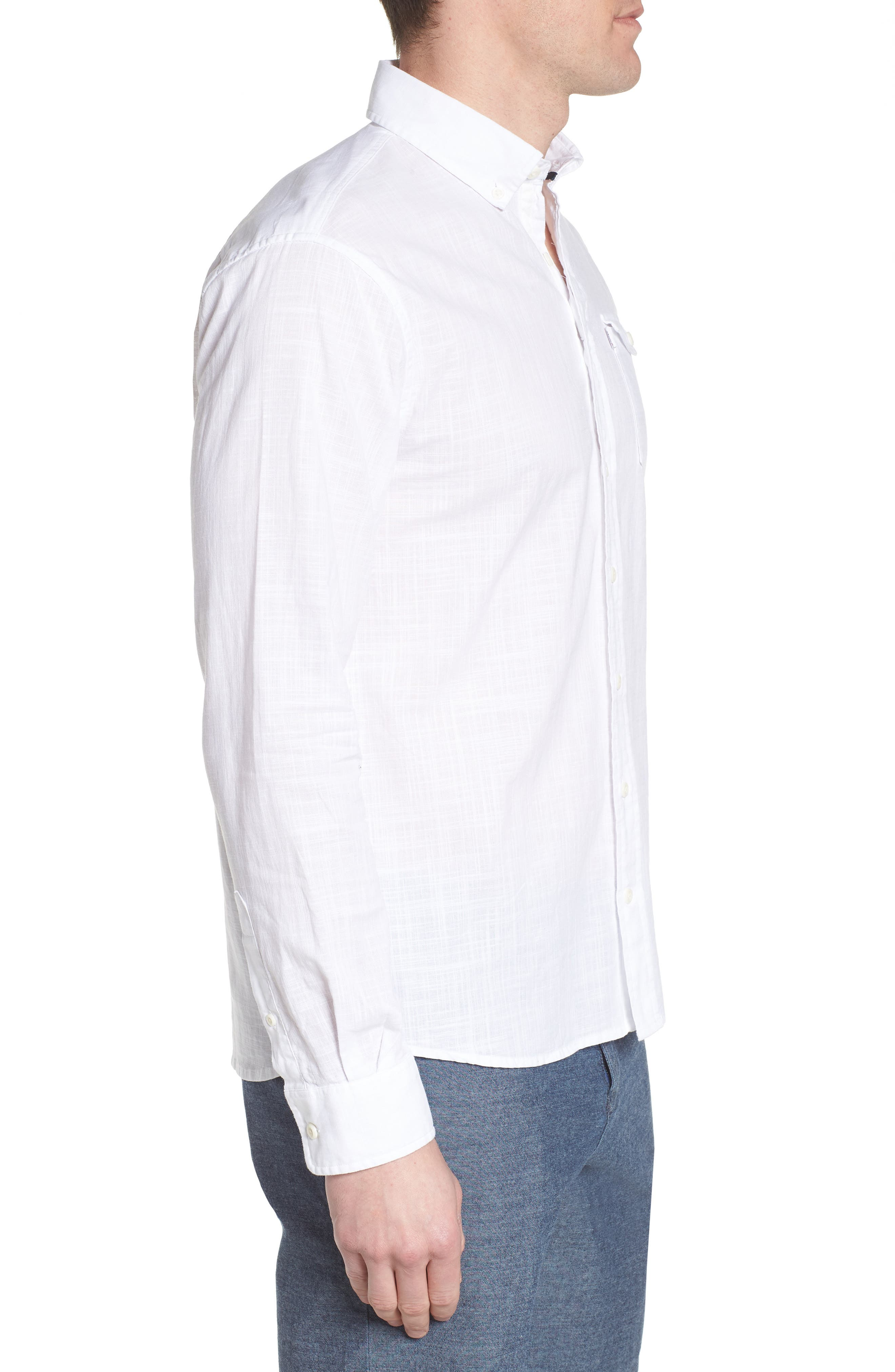 Brodie Regular Fit Sport Shirt,                             Alternate thumbnail 4, color,                             White