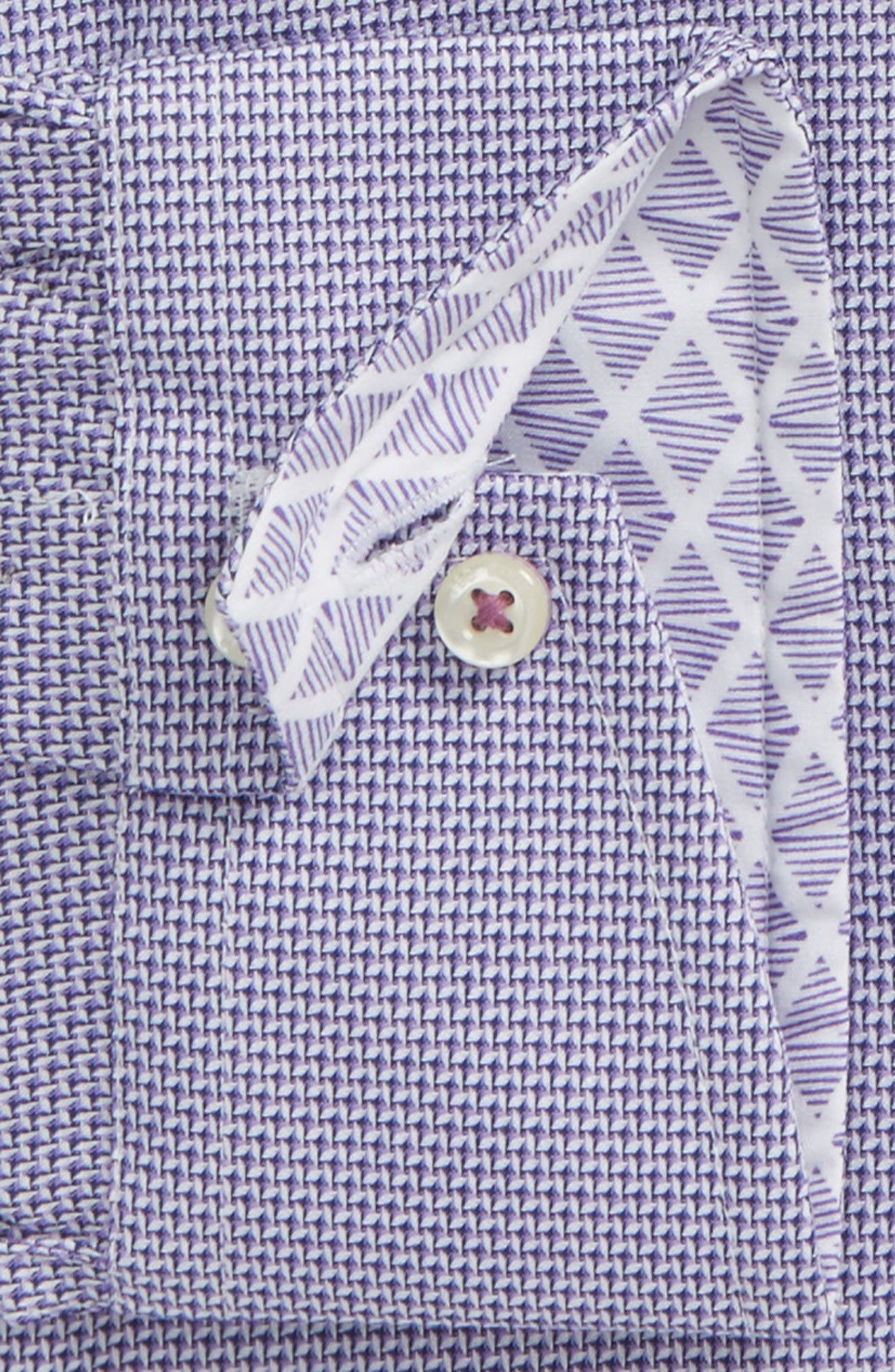 Murgese Trim Fit Geometric Dress Shirt,                             Alternate thumbnail 2, color,                             Purple