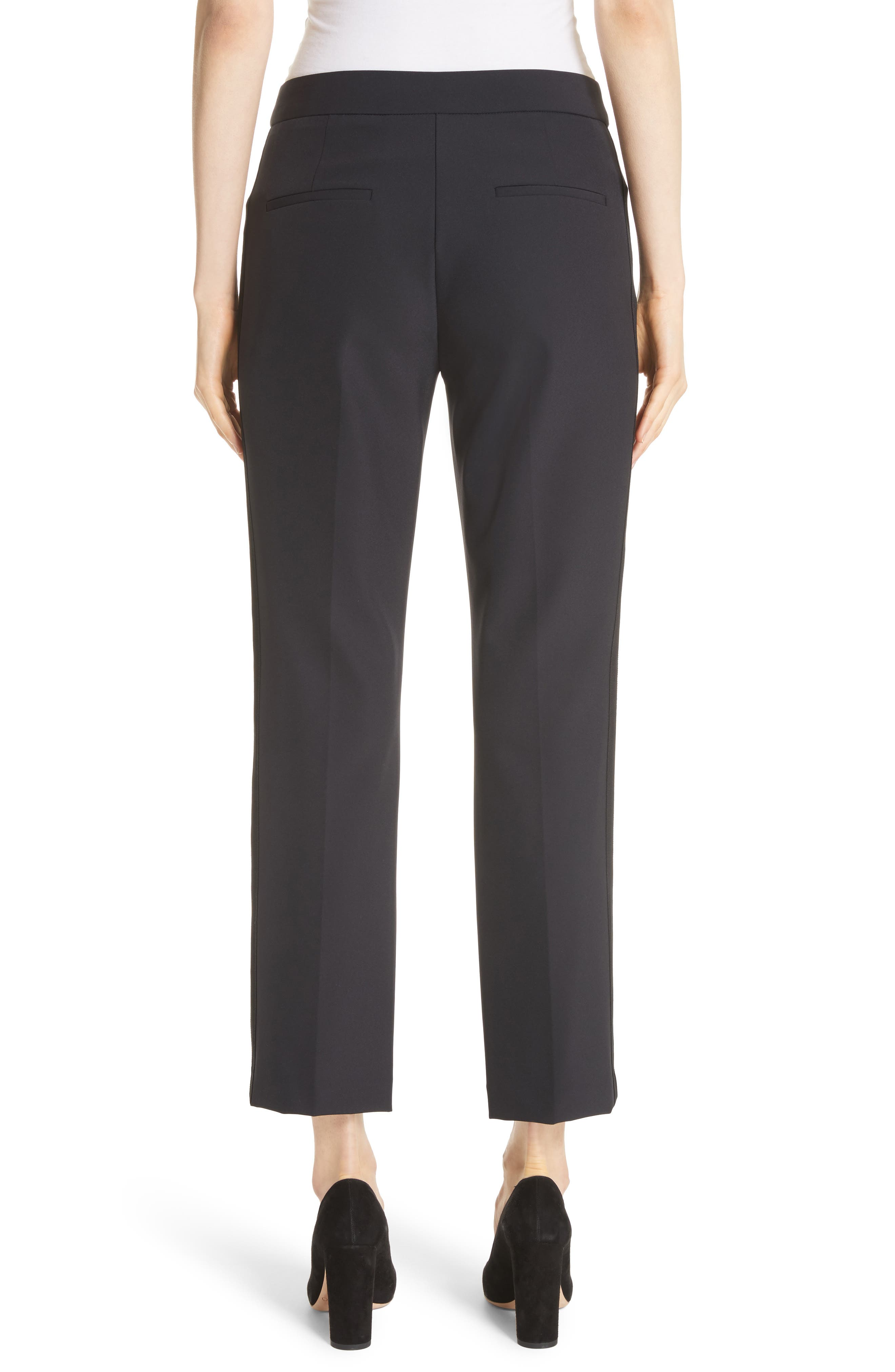 Audra Crop Pants,                             Alternate thumbnail 2, color,                             Black