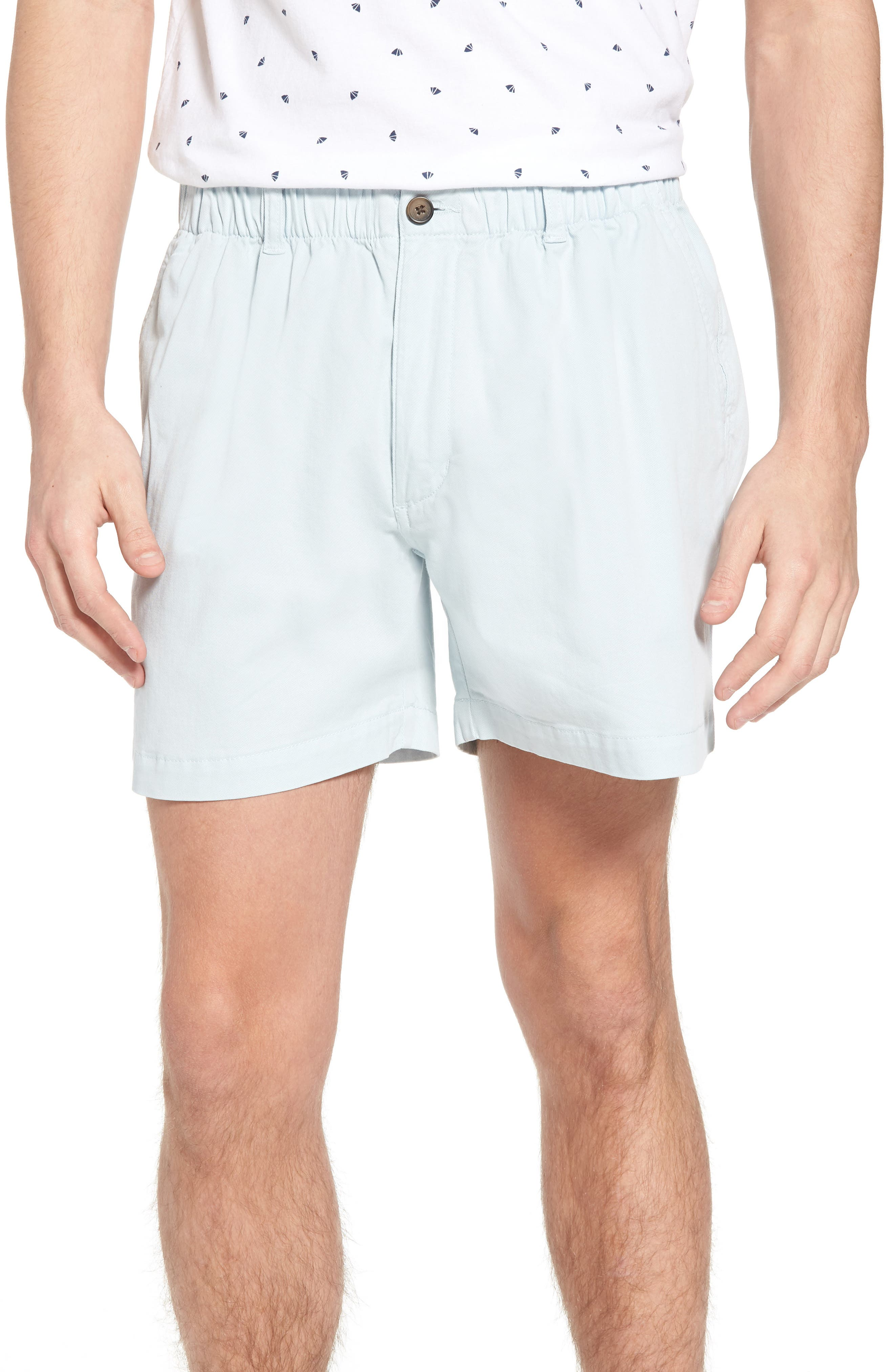 Snappers Elastic Waist 5.5 Inch Stretch Shorts,                             Main thumbnail 1, color,                             Sky