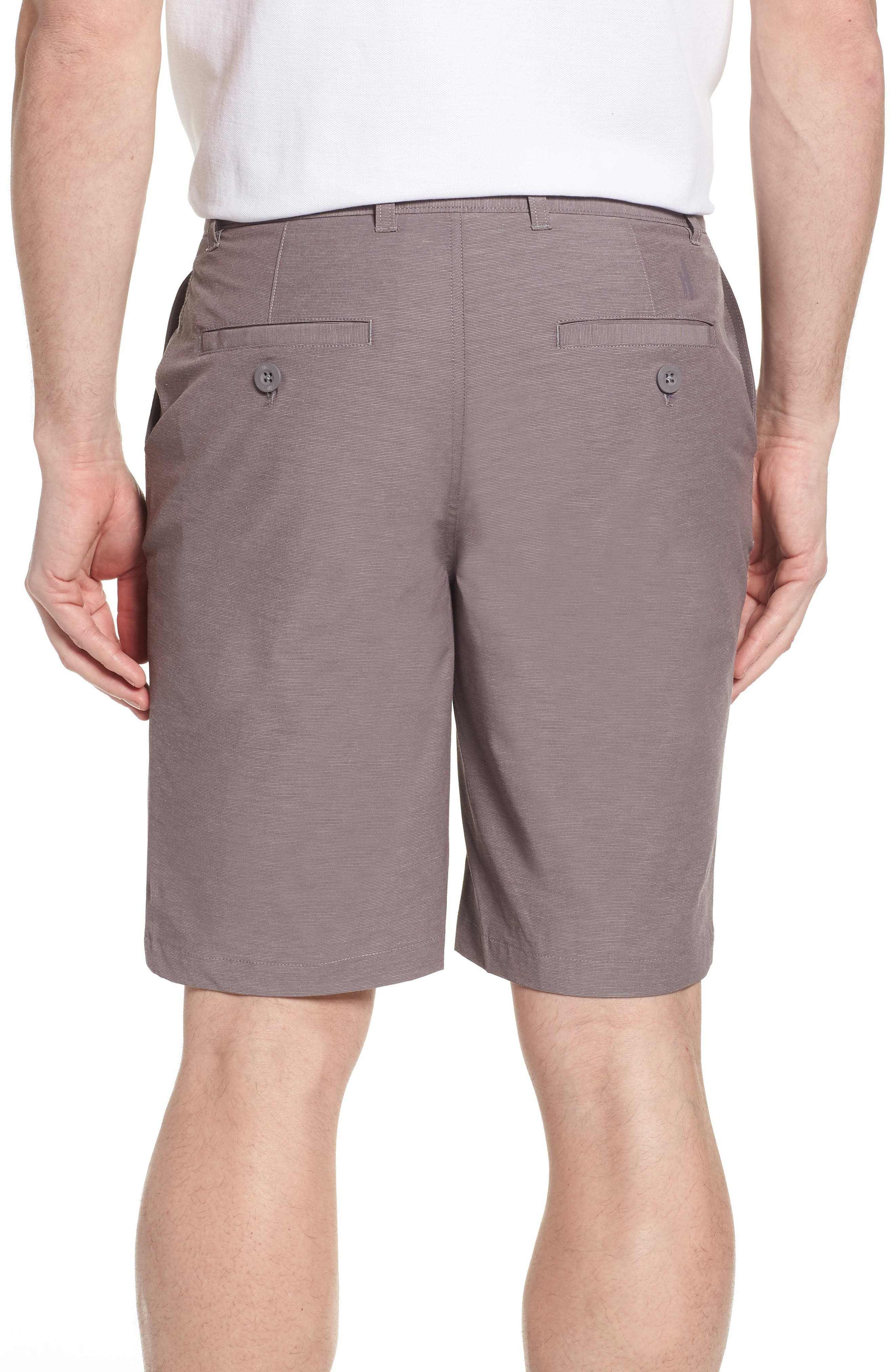 Wyatt Regular Fit Stretch Shorts,                             Alternate thumbnail 2, color,                             Steel