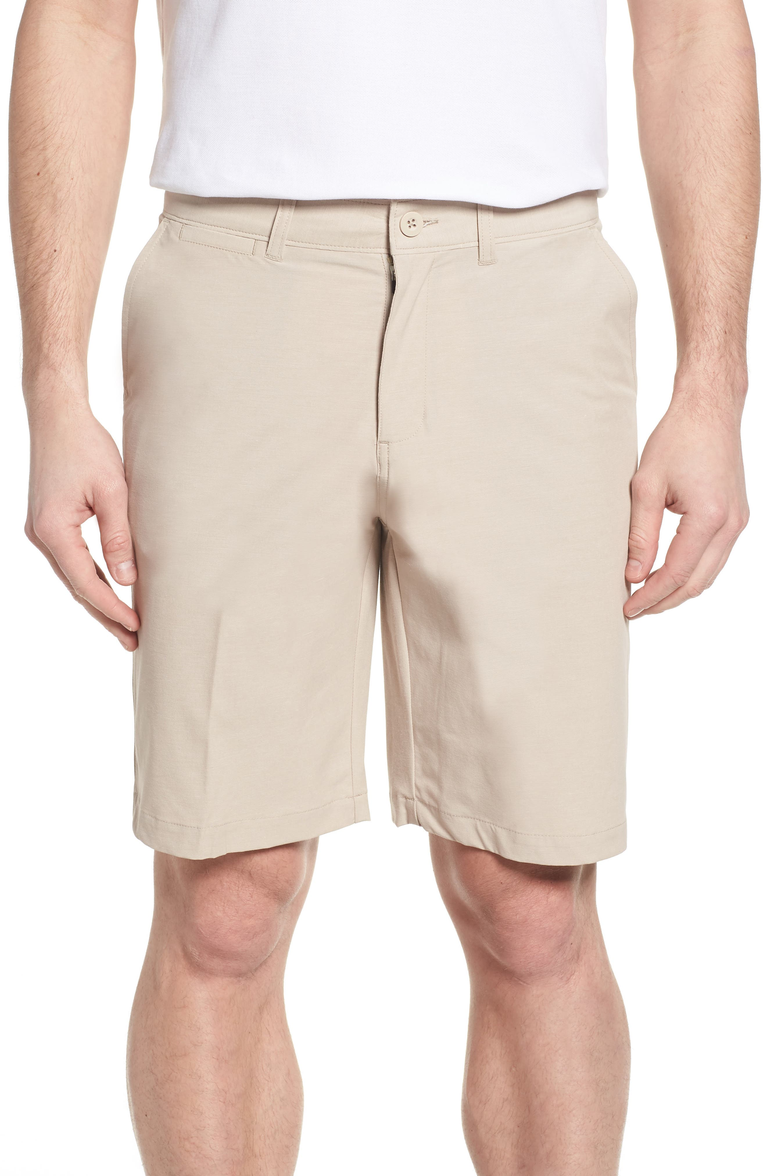 Wyatt Regular Fit Stretch Shorts,                             Main thumbnail 1, color,                             Stone