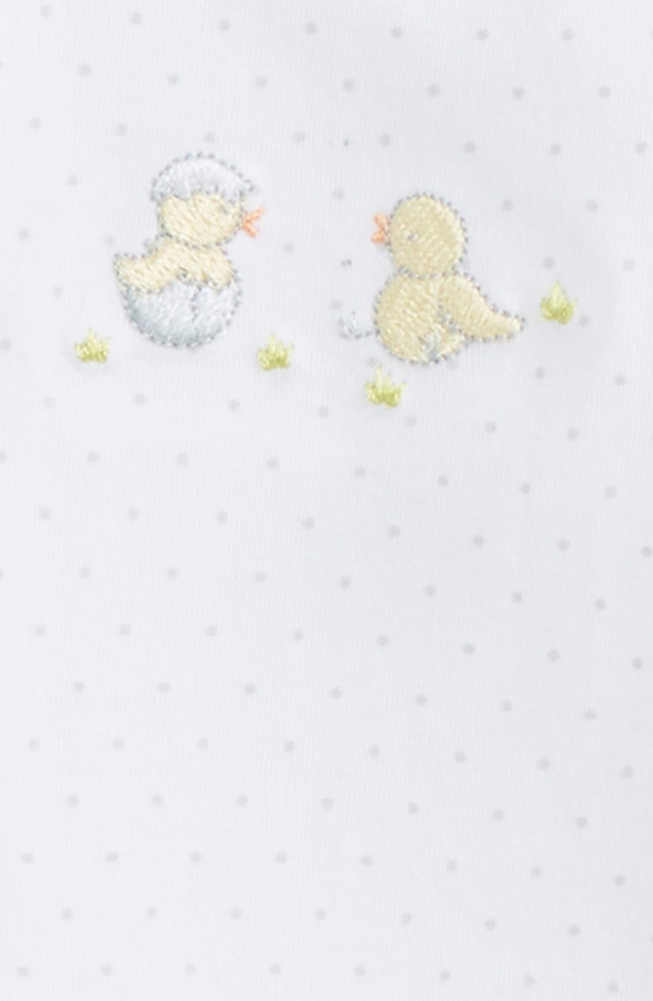 Alternate Image 2  - Kissy Kissy Hatchlings Pima Cotton Footie (Baby)