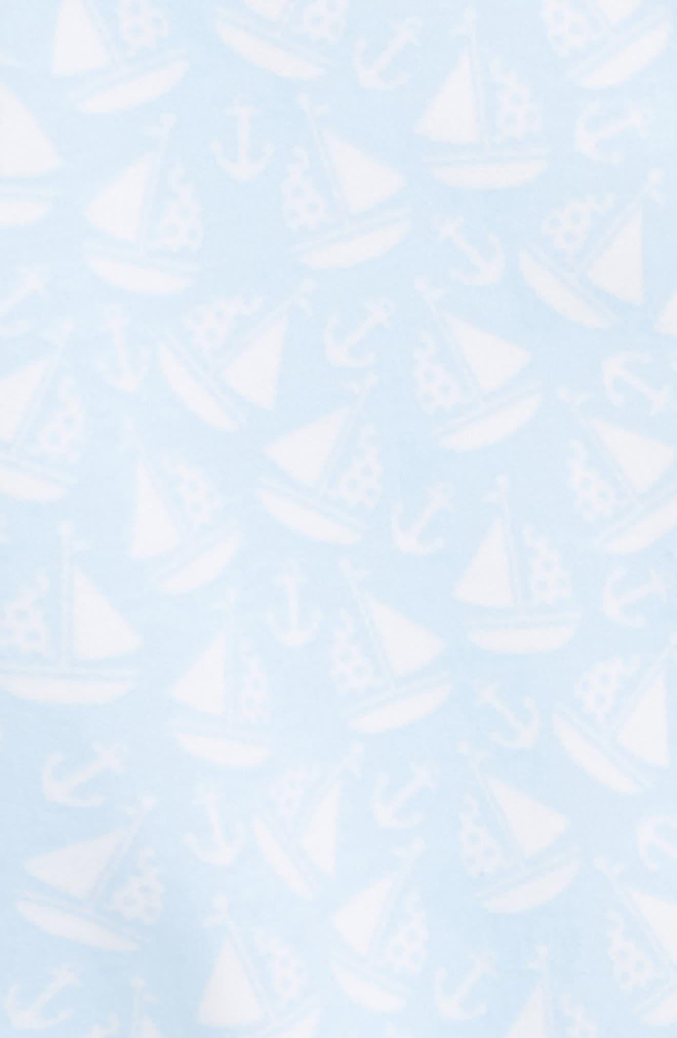 Gone Sailing Pima Cotton Footie,                             Alternate thumbnail 2, color,                             Light Blue
