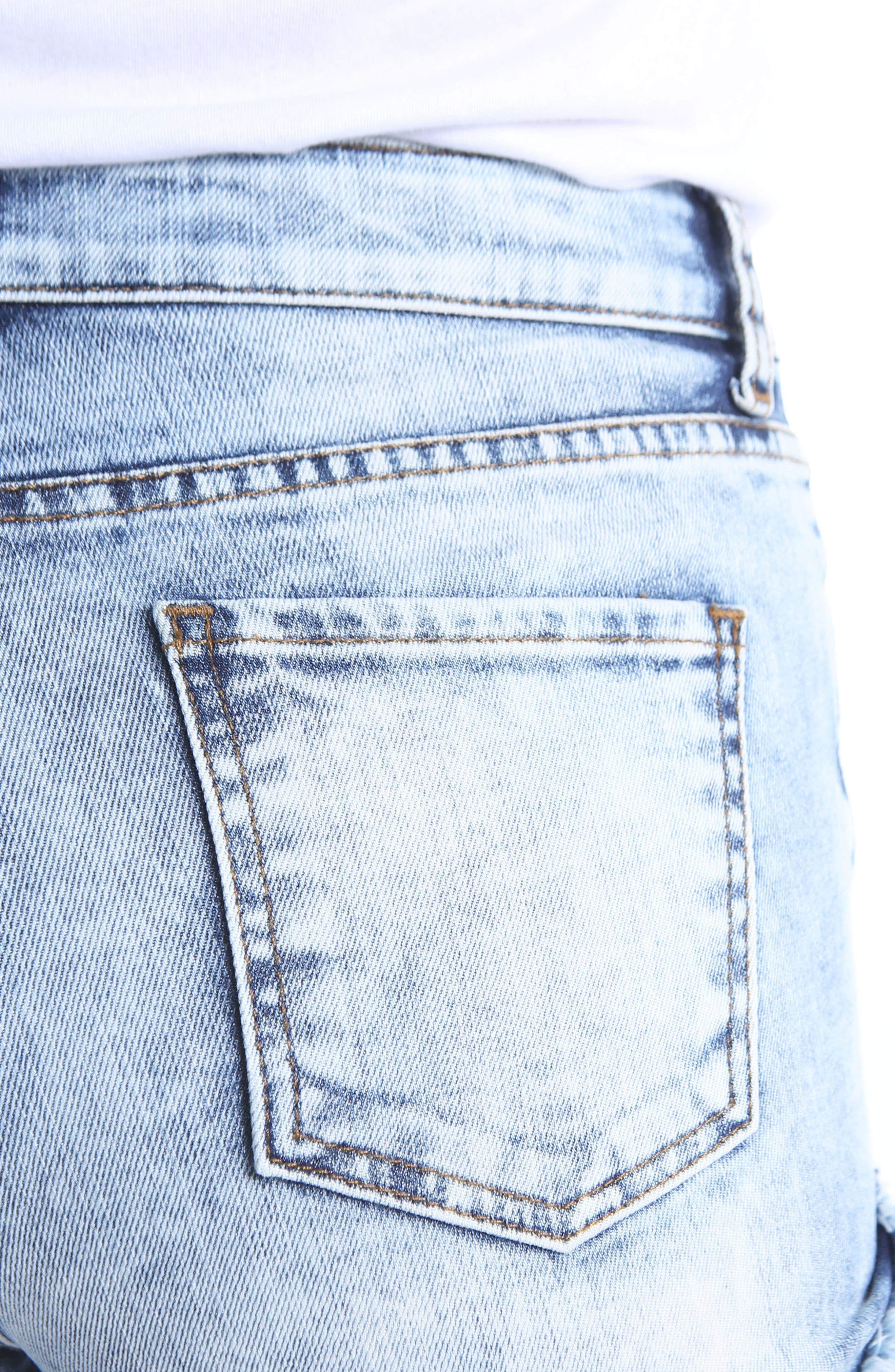 KUT Kollection Gidget Cutoff Denim Shorts,                             Alternate thumbnail 4, color,                             Heighten