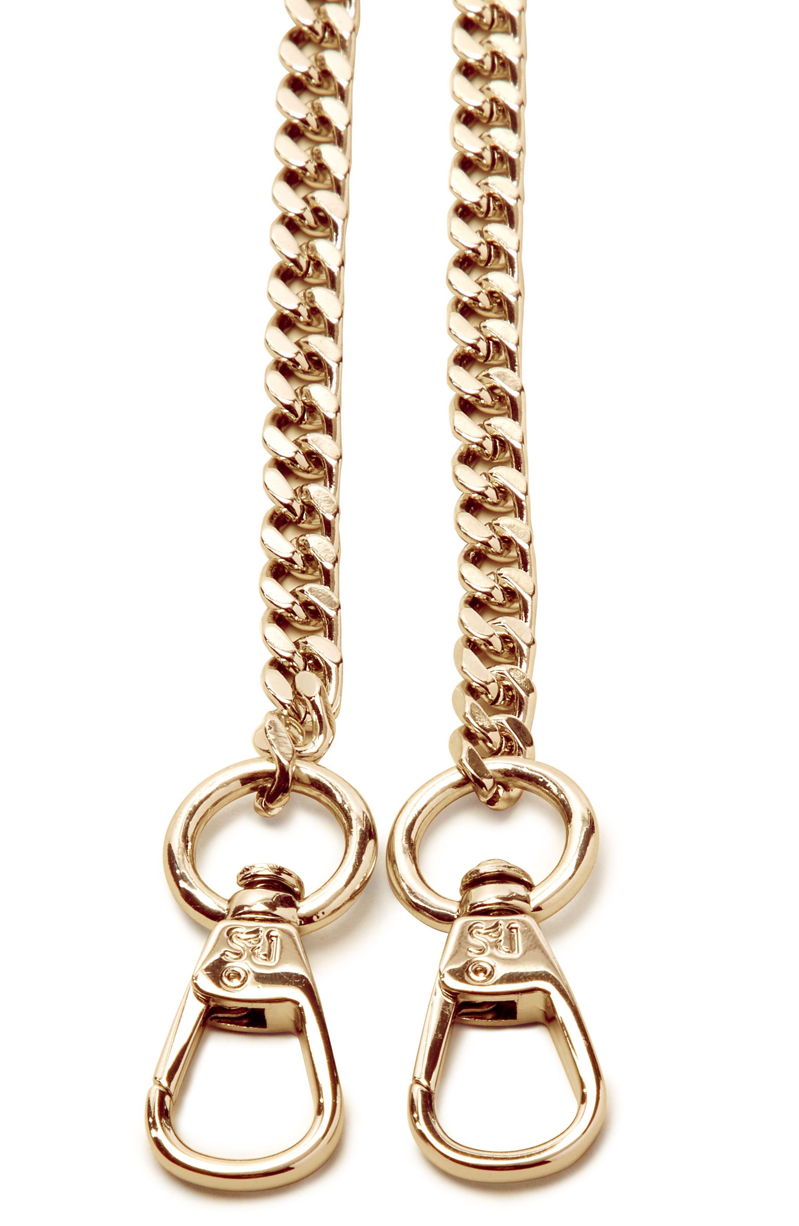 Chain Shoulder Strap,                             Alternate thumbnail 2, color,                             Gold
