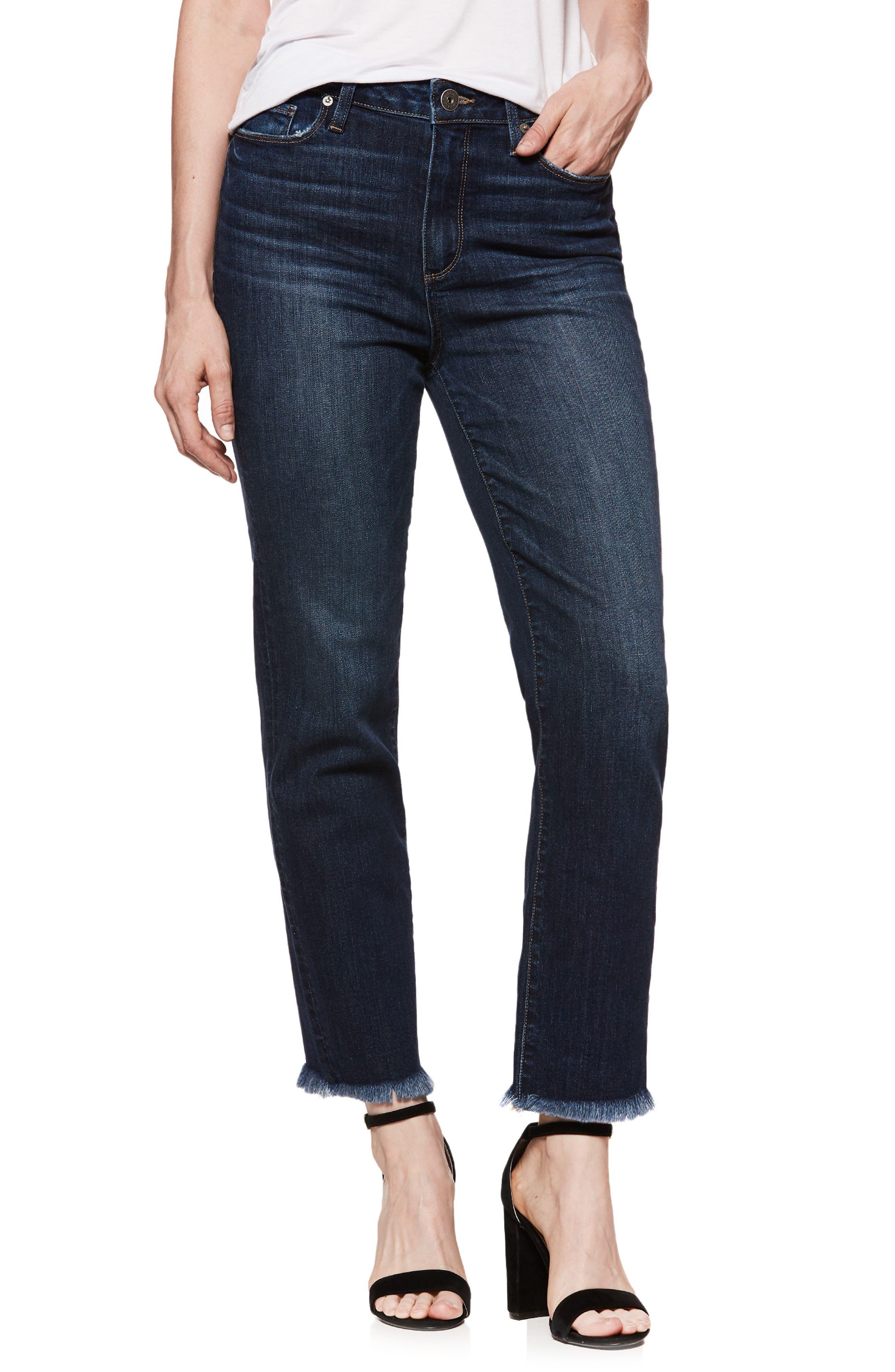 Hoxton High Waist Ankle Straight Leg Jeans,                         Main,                         color, Mazzetti