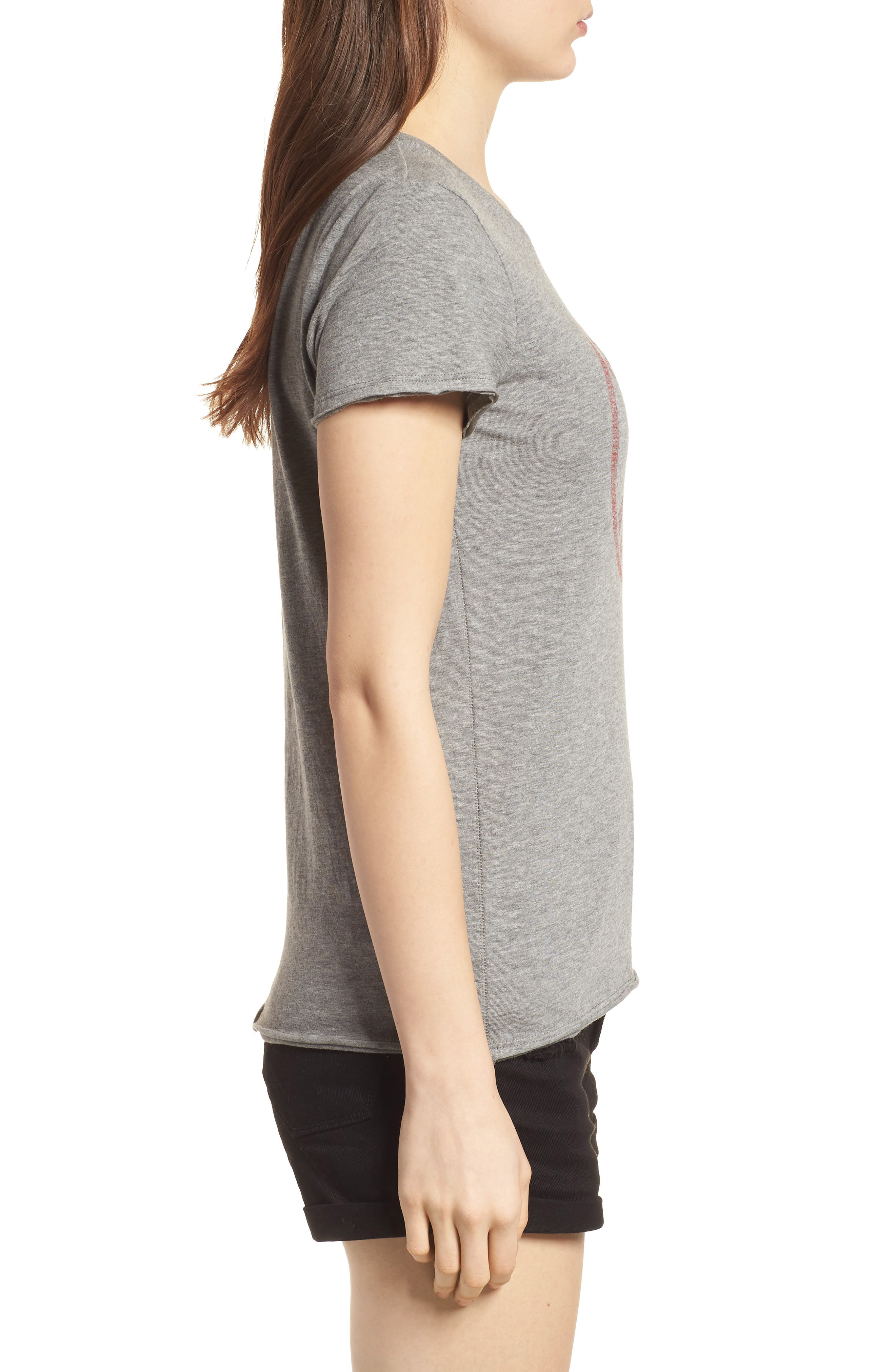 Boston Red Sox Fader Letter Tee,                             Alternate thumbnail 3, color,                             Slate Grey
